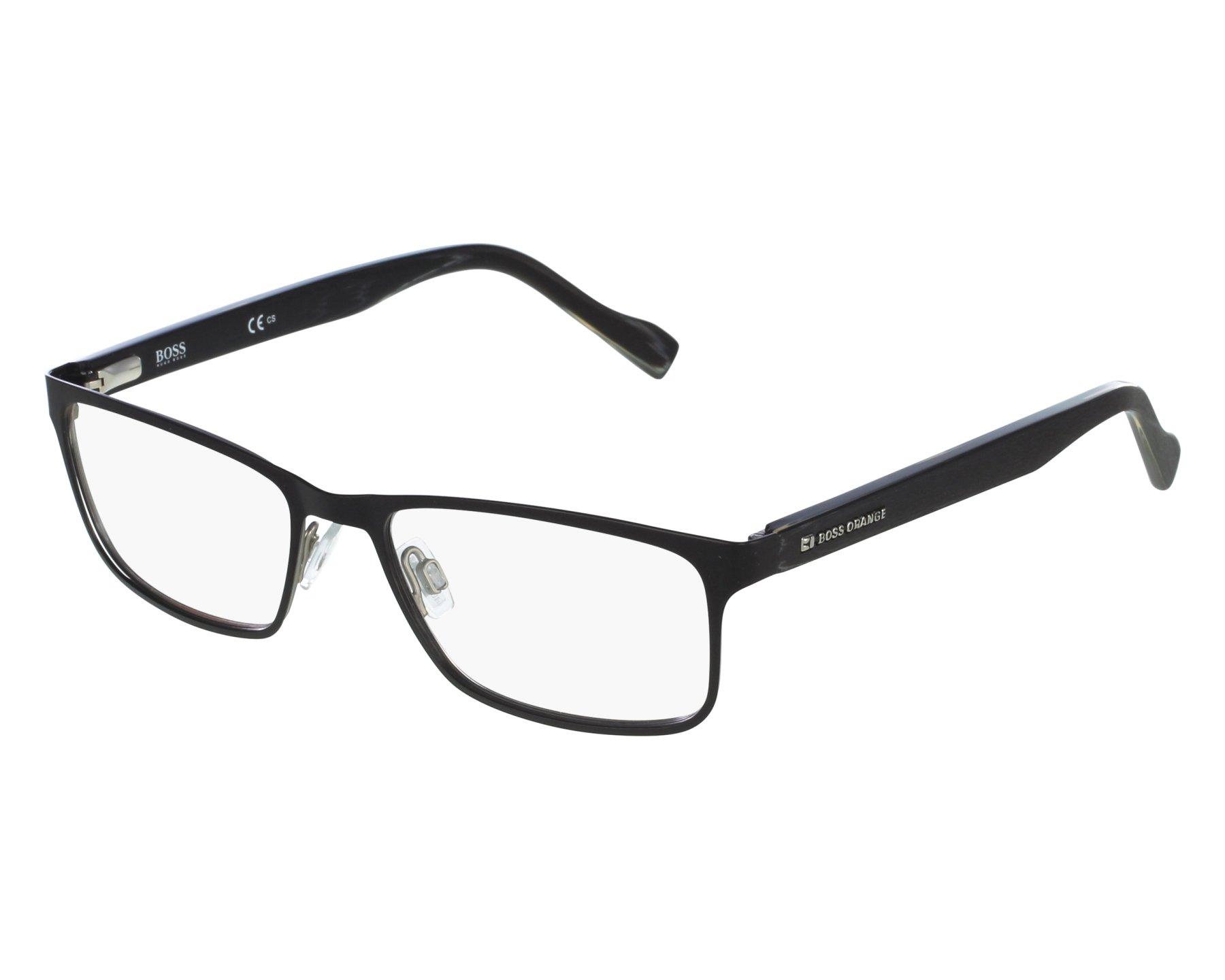 9a7e480538 eyeglasses Boss Orange BO-0151 6SO 53-17 Black front view