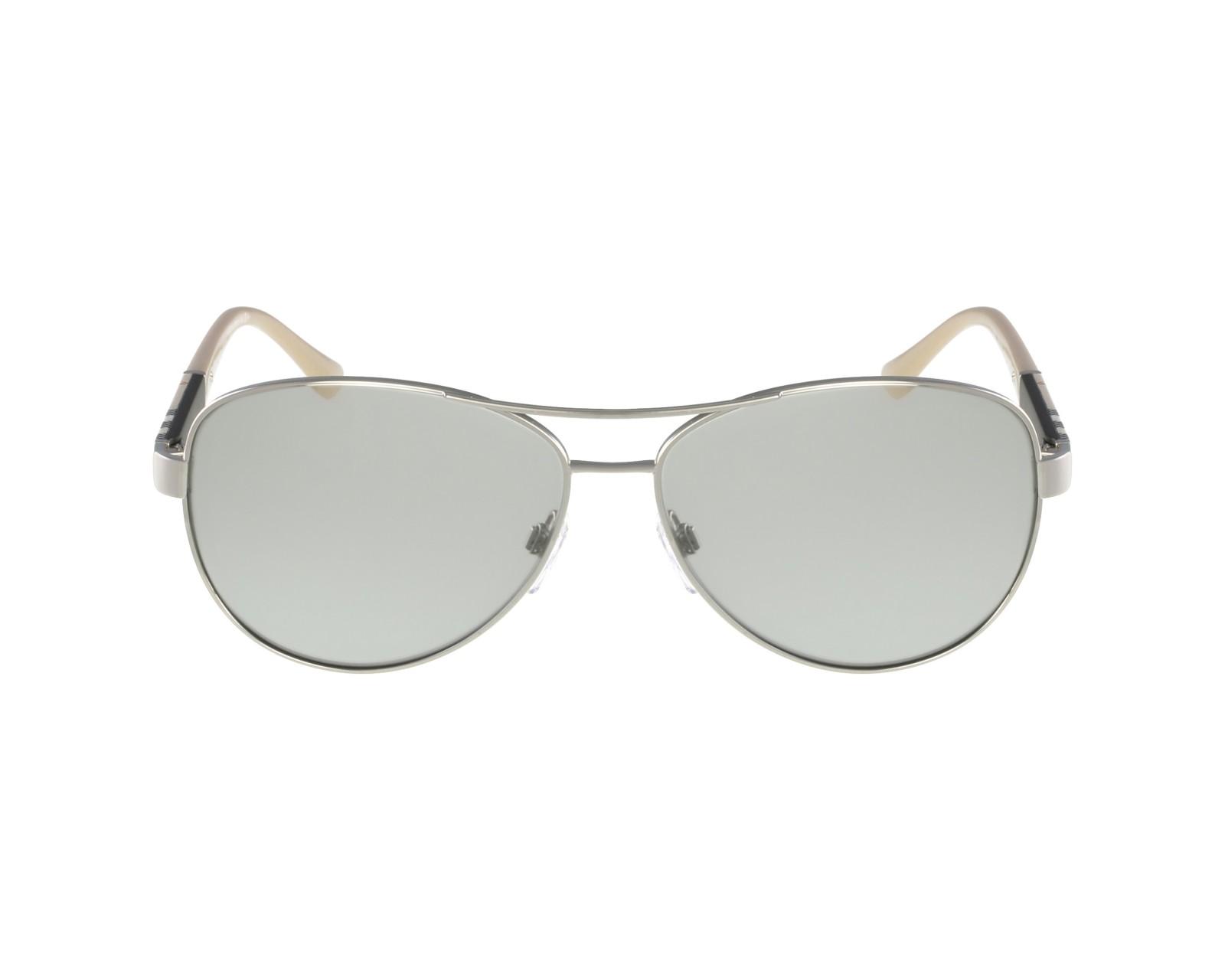 f14976c4c01 Sunglasses Burberry BE-3080 1005 6V 59-14 Silver Beige profile view
