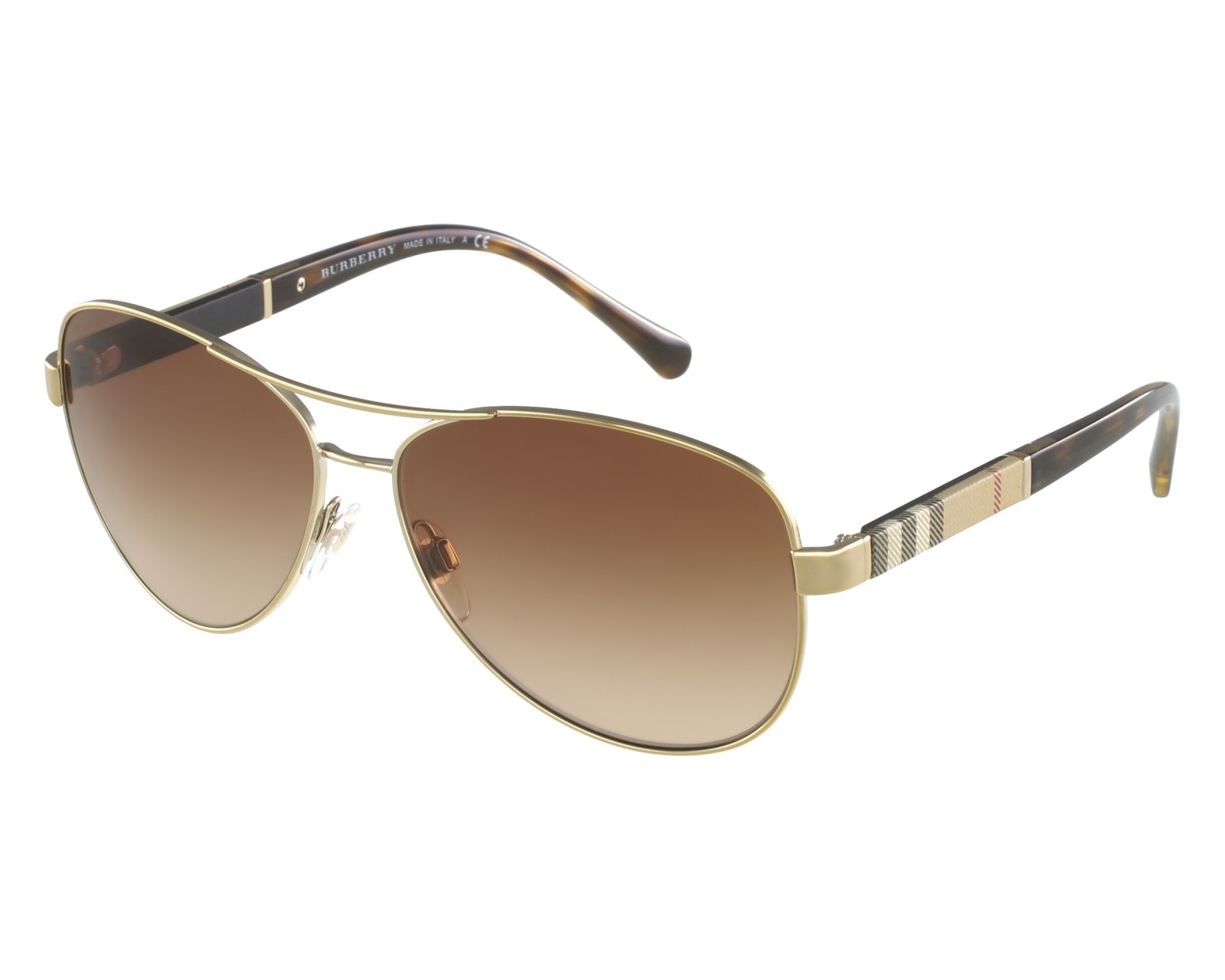 0a91cc6c5aeea8 Sunglasses Burberry BE-3080 1145 13 59-14 Gold Beige front view