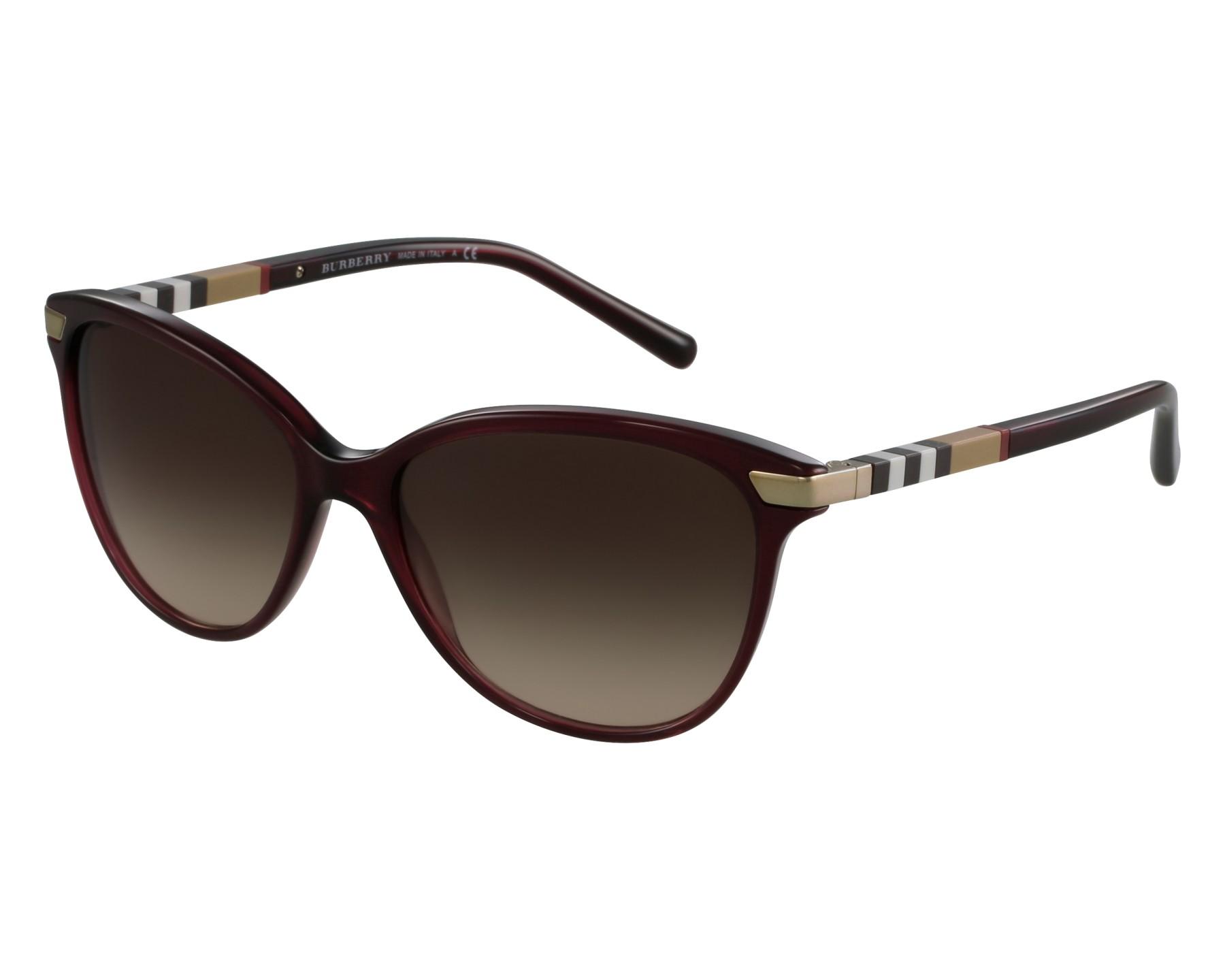 c571d4eb128 Sunglasses Burberry BE-4216 3014 13 57-16 Bordeaux Gold front view