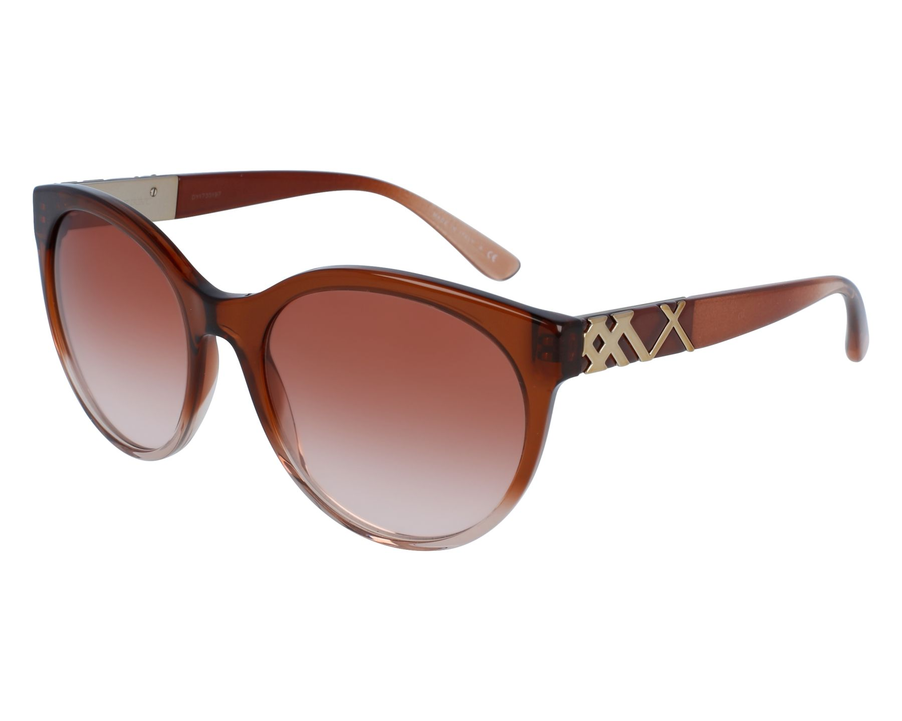 88bba1b0d3eb Sunglasses Burberry BE-4236 3608/13 56-19 Brown Silver front view