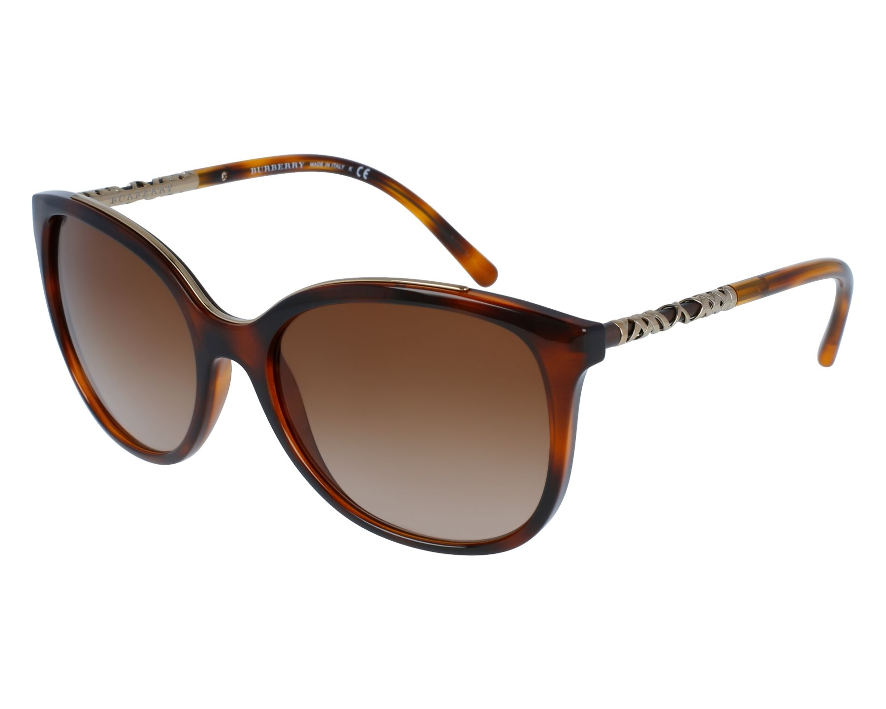 Sunglasses Burberry BE-4237 3316/13 57-18 Havana Gold front view