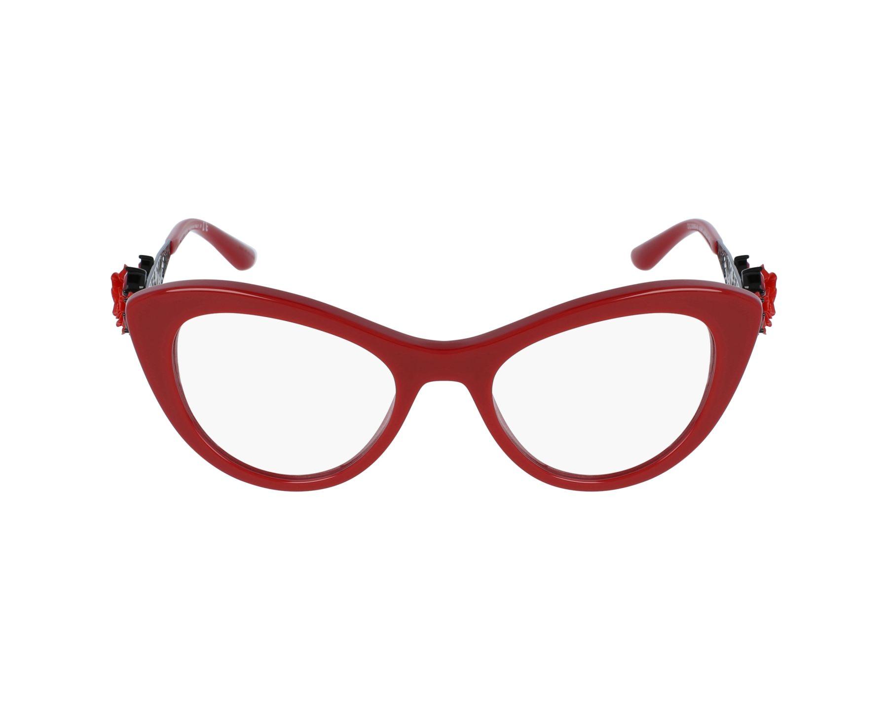 a1b51de0628c thumbnail eyeglasses Dolce & Gabbana DG-3265-B 3088 - Red Black profile view