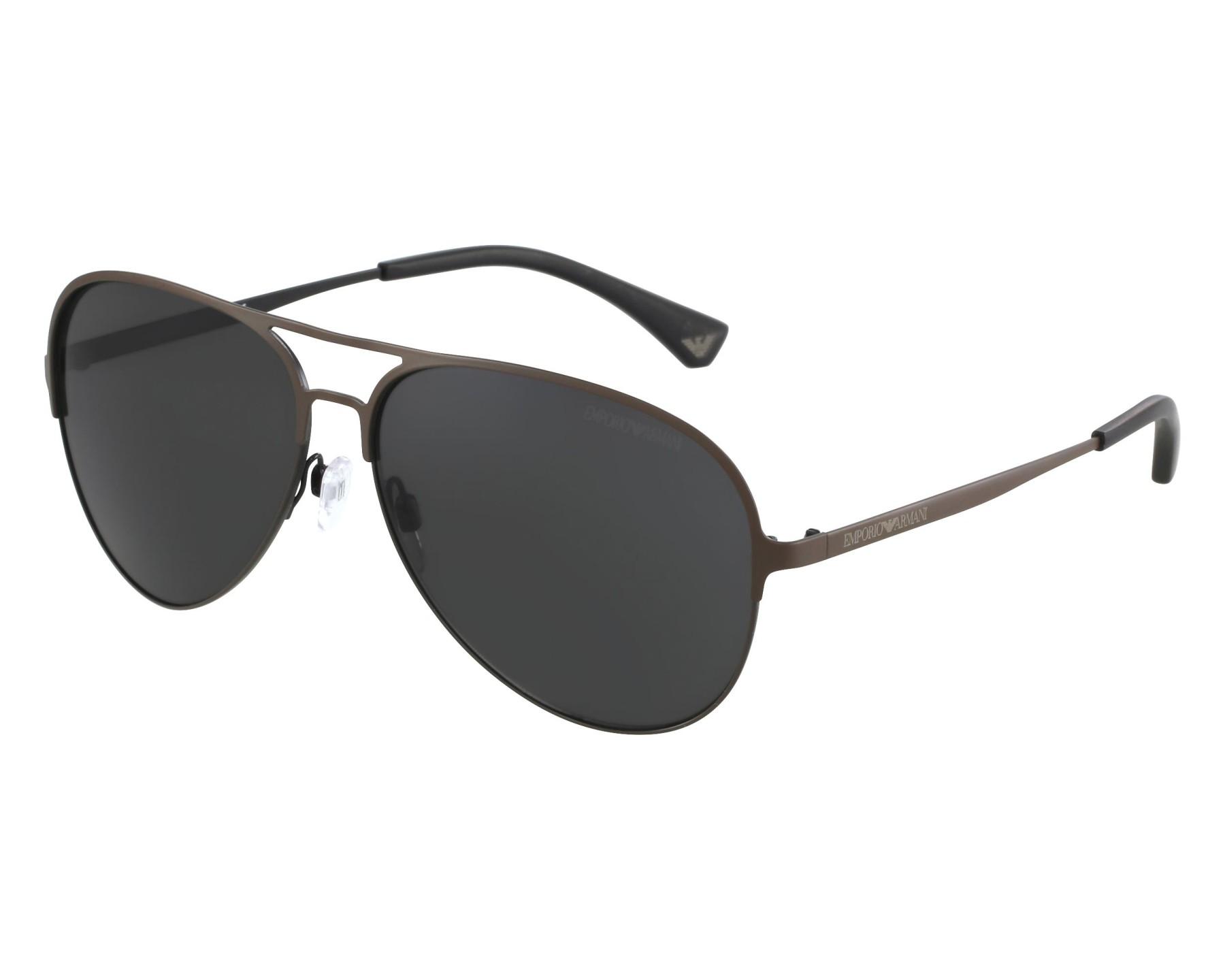4832361441 thumbnail Sunglasses Emporio Armani EA-2032 3128 87 - Brown front view