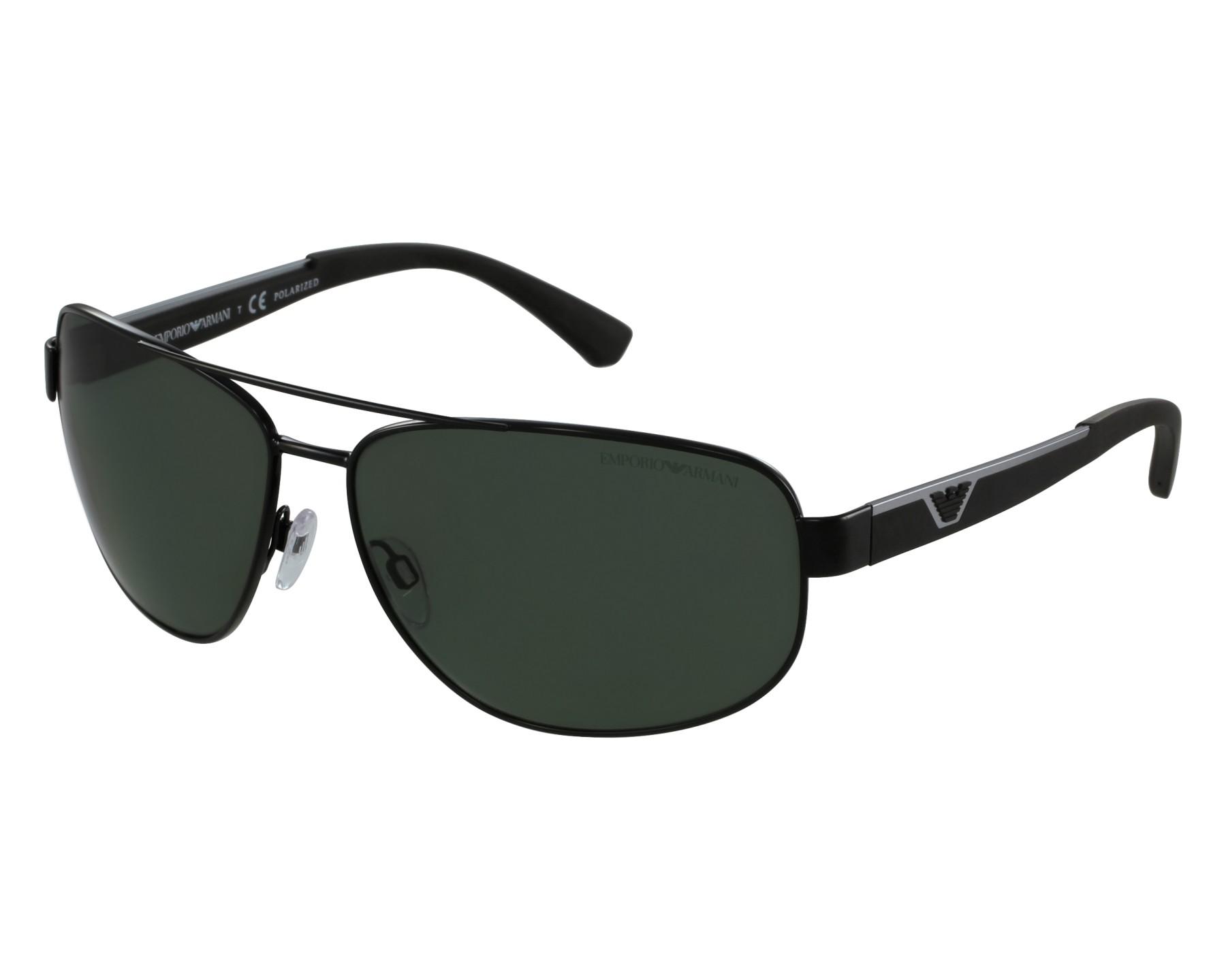 d21c67a1a787 Sunglasses Emporio Armani EA-2036 3014 9A 64-14 Black front view