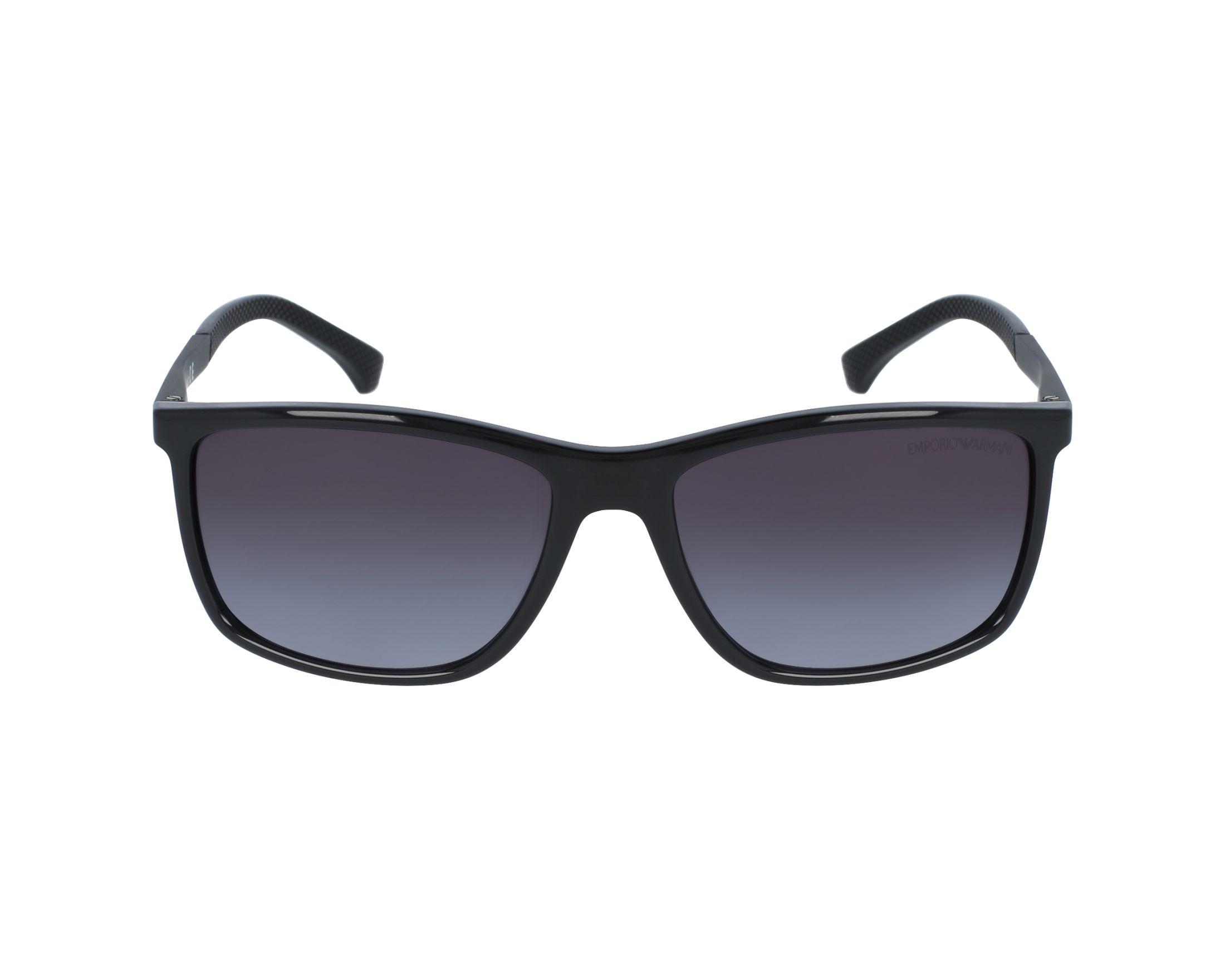 627ad21ec10 Sunglasses Emporio Armani EA-4058 5017 8G - Black Black profile view