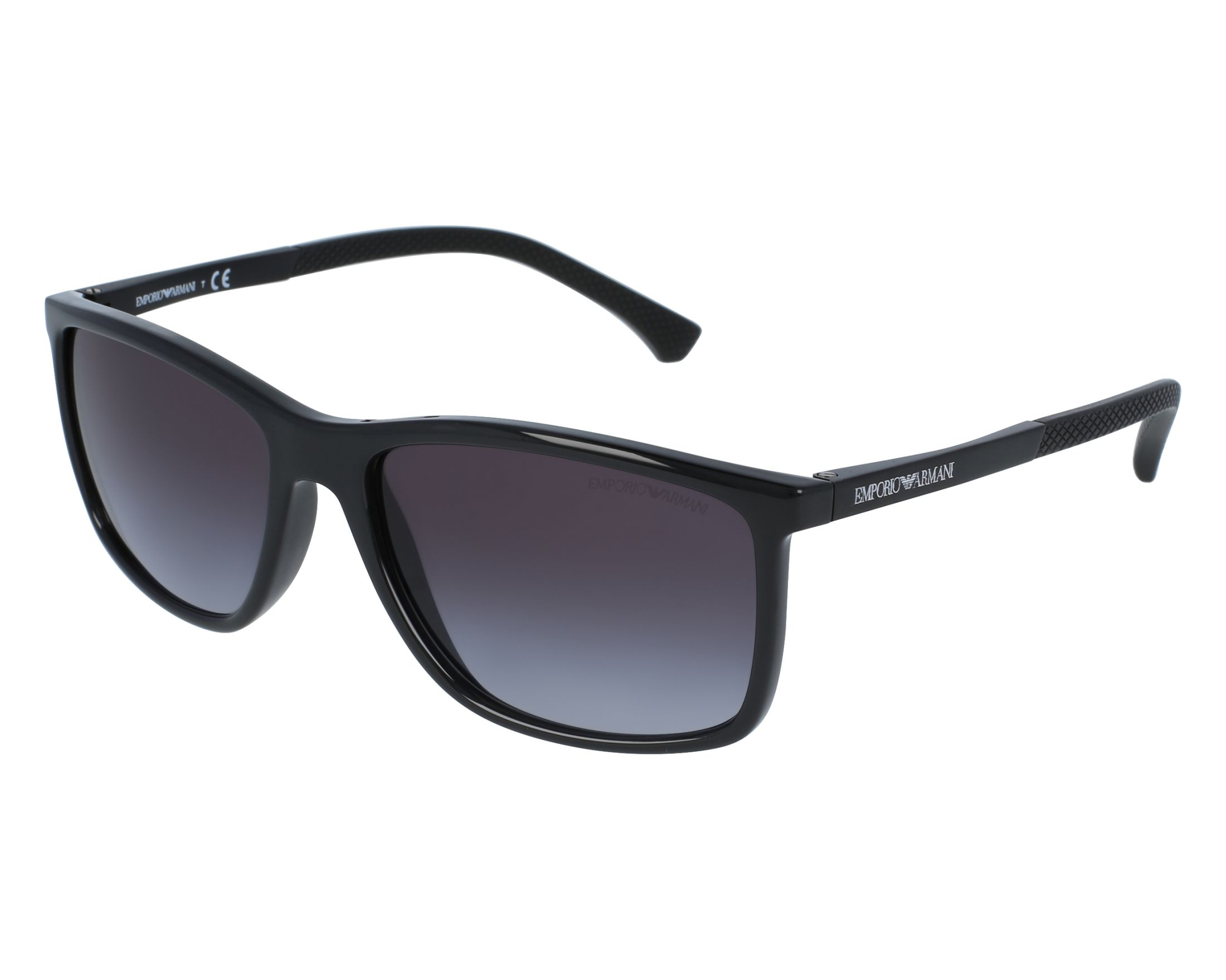 a9a2793dfe0 Sunglasses Emporio Armani EA-4058 5017 8G - Black Black front view