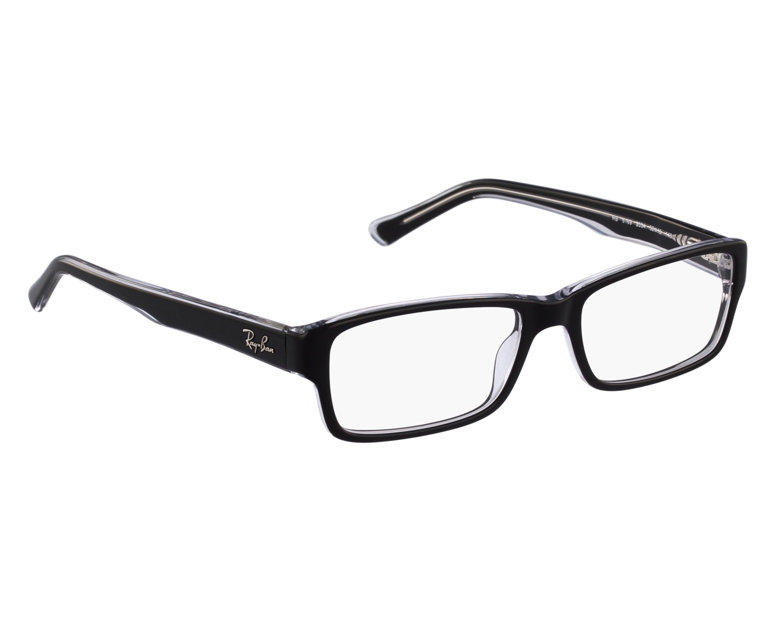 5123f59894d eyeglasses Ray-Ban RX-5169 2034 52-16 Black Crystal front view
