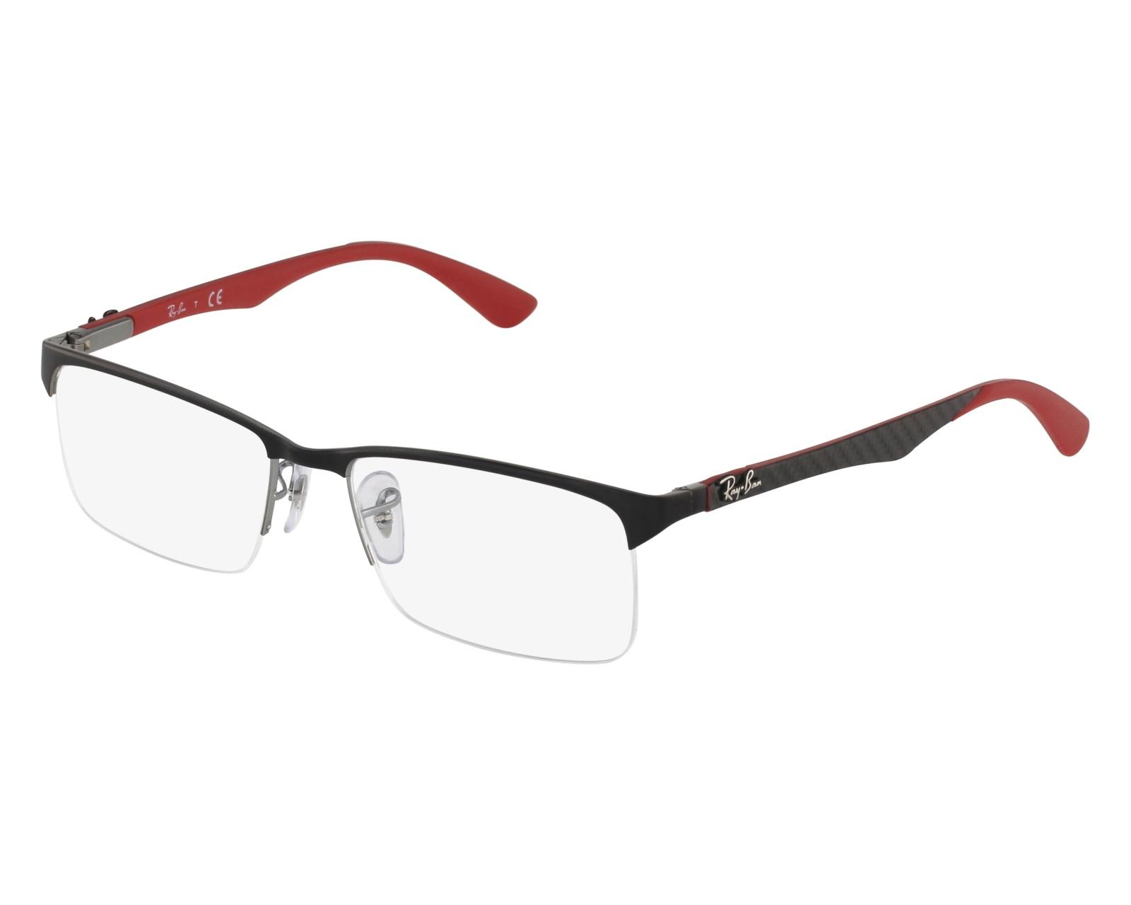 ce873d1b4b829 ... cheap eyeglasses ray ban rx 8411 2509 54 17 black red front view 33791  0561b