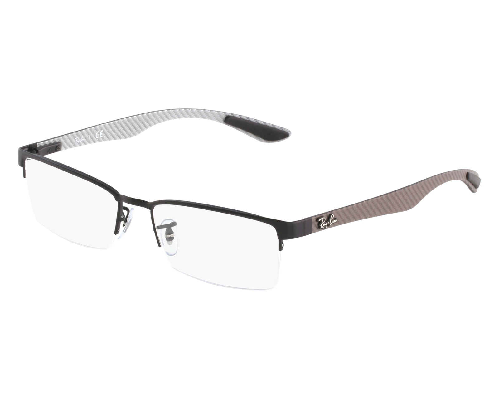 d2a397131b2 thumbnail eyeglasses Ray-Ban RX-8412 2503 52-17 Black front view