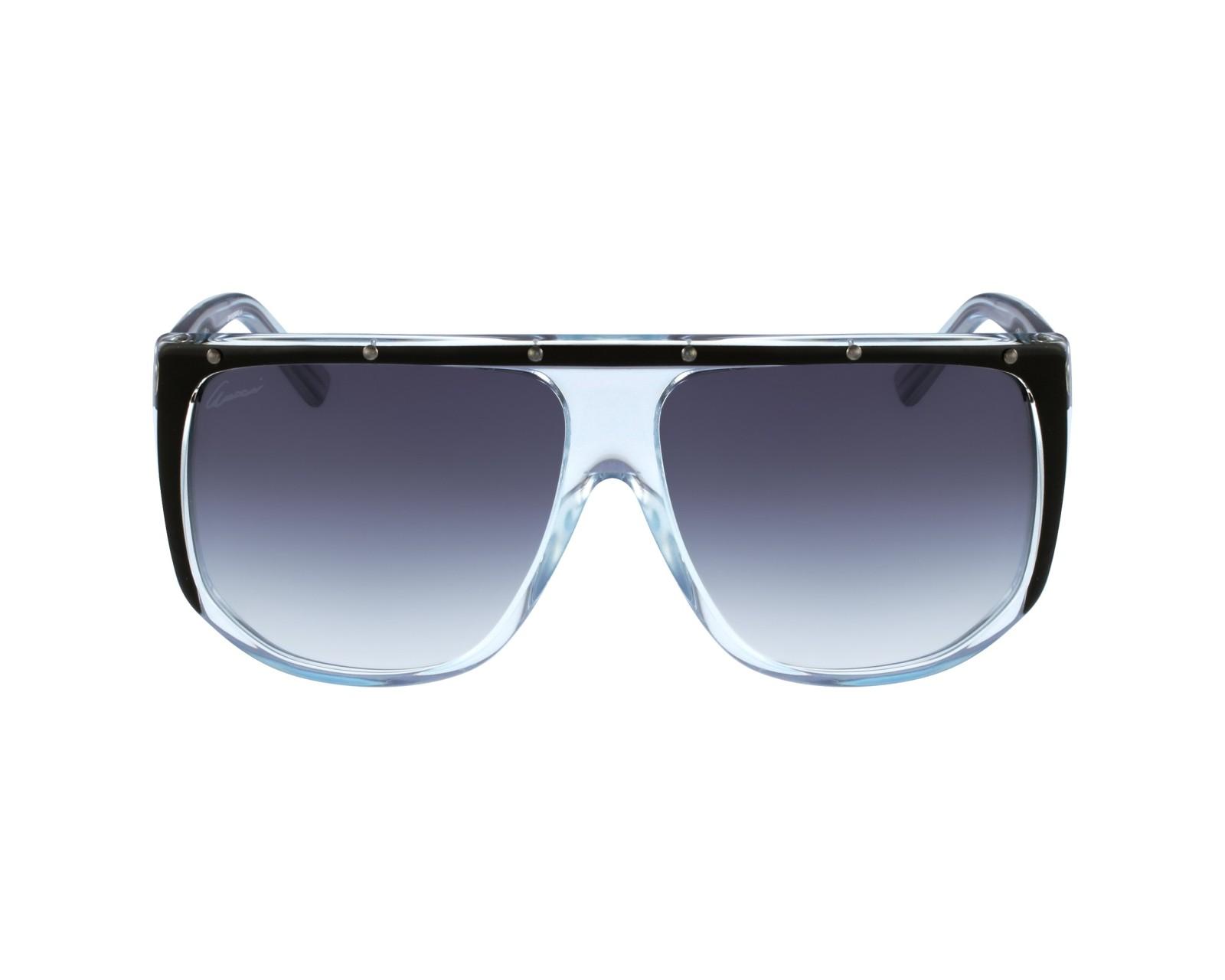 dcf519bc31d Sunglasses Gucci GG-3705-S 9UF LF - Black Blue sky profile view