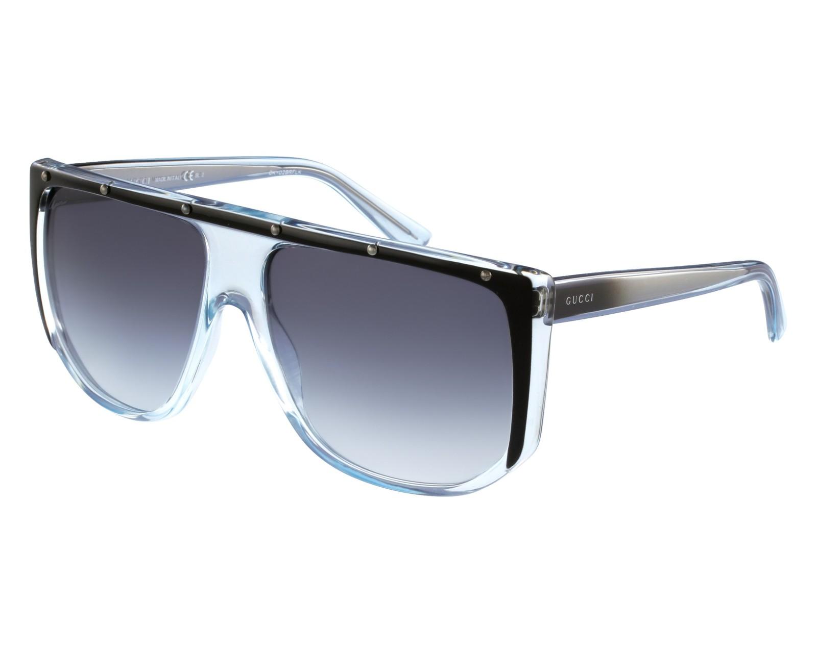 31d5e47edd6 Sunglasses Gucci GG-3705-S 9UF LF - Black Blue sky front view