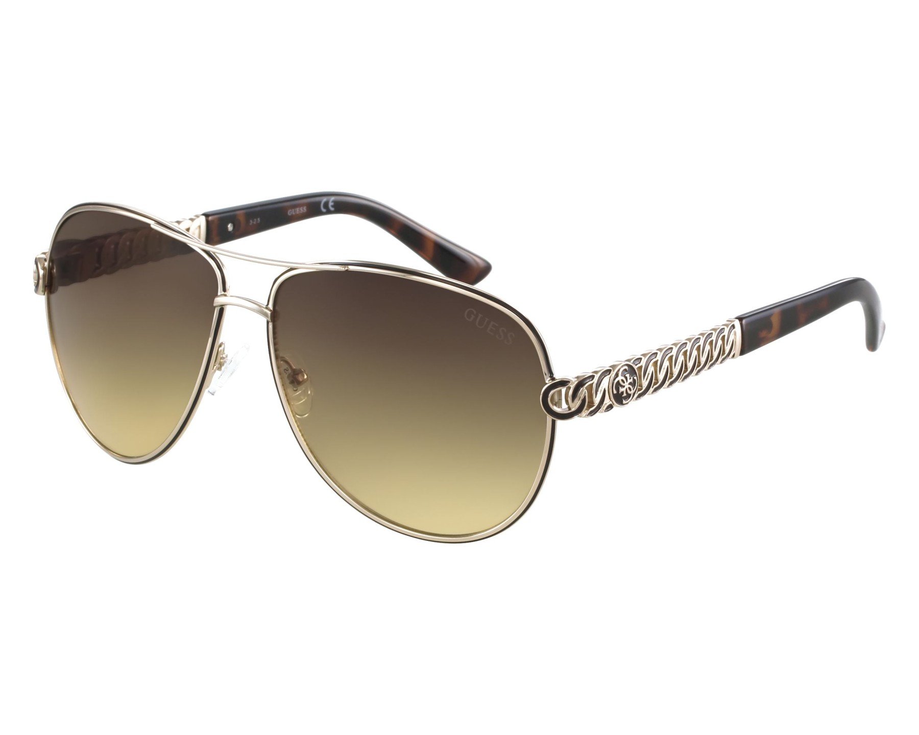 17df148eafd Sunglasses Guess GU-7404 32F 59-13 Gold front view