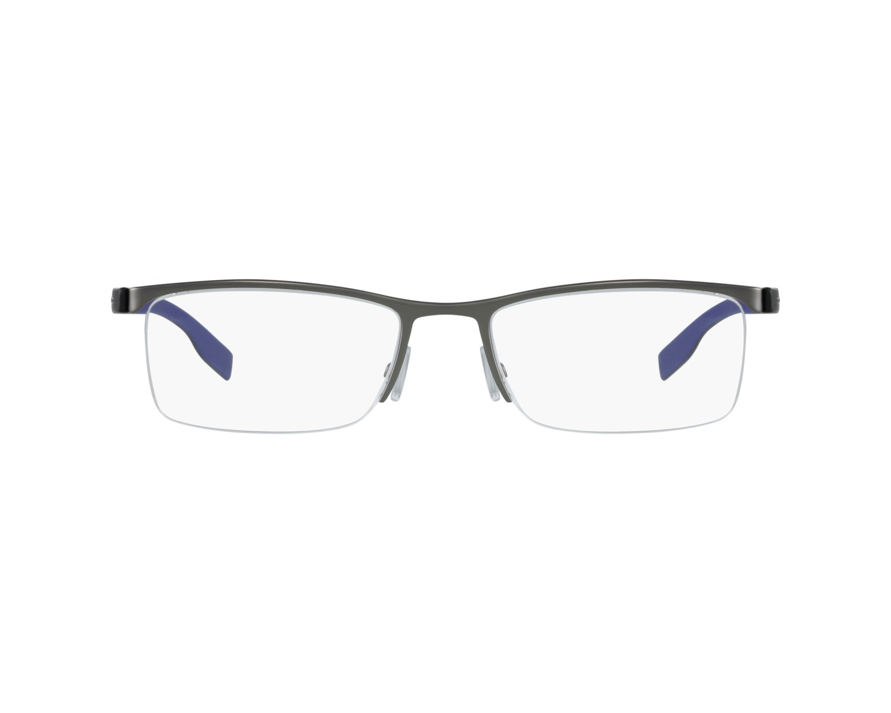 7750251757 eyeglasses Hugo Boss BOSS-0610 5MO 55-19 Silver Black profile view