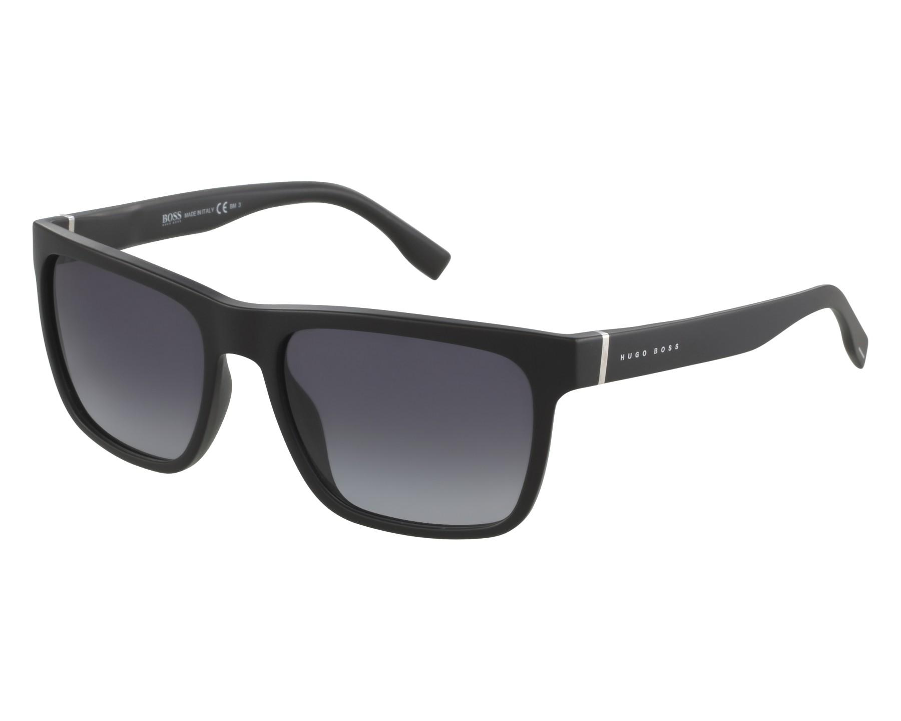 3e153224950fc Sunglasses Hugo Boss BOSS-0727-S 003-9O 56-18 Black front