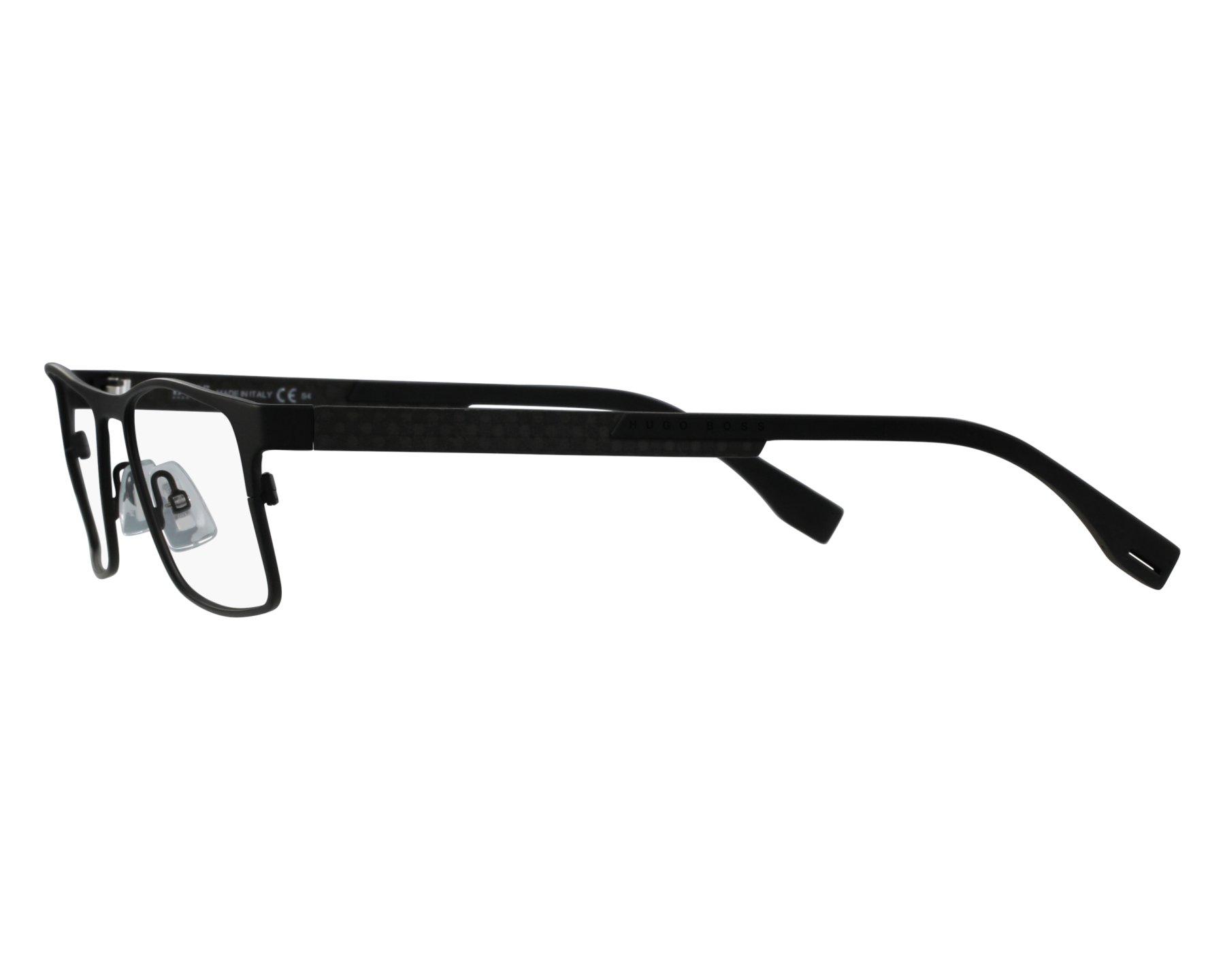 ae793eb98e8 eyeglasses Hugo Boss BOSS-0775 HXE 58-18 Black Carbon front view