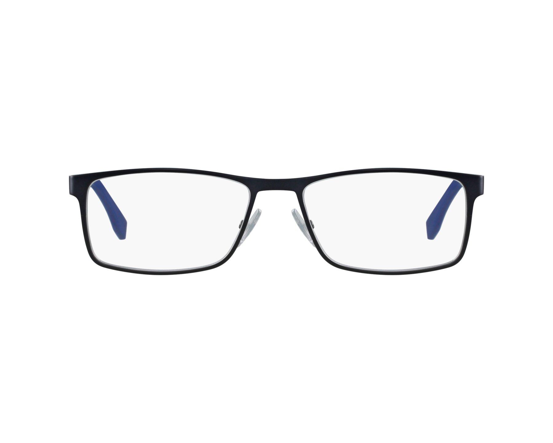 37222ffd700 eyeglasses Hugo Boss BOSS-0775 QGM 56-17 Blue Carbon profile view