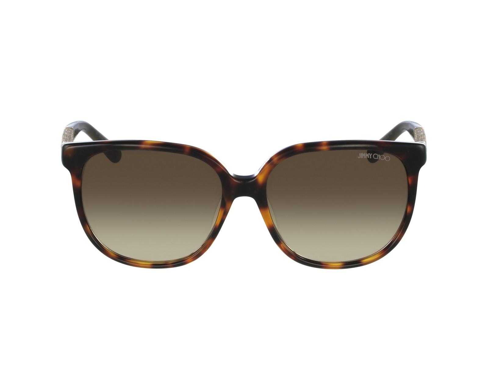 aee295dbd537 thumbnail Sunglasses Jimmy Choo PAULA-S VUU JD - Havana Gold profile view
