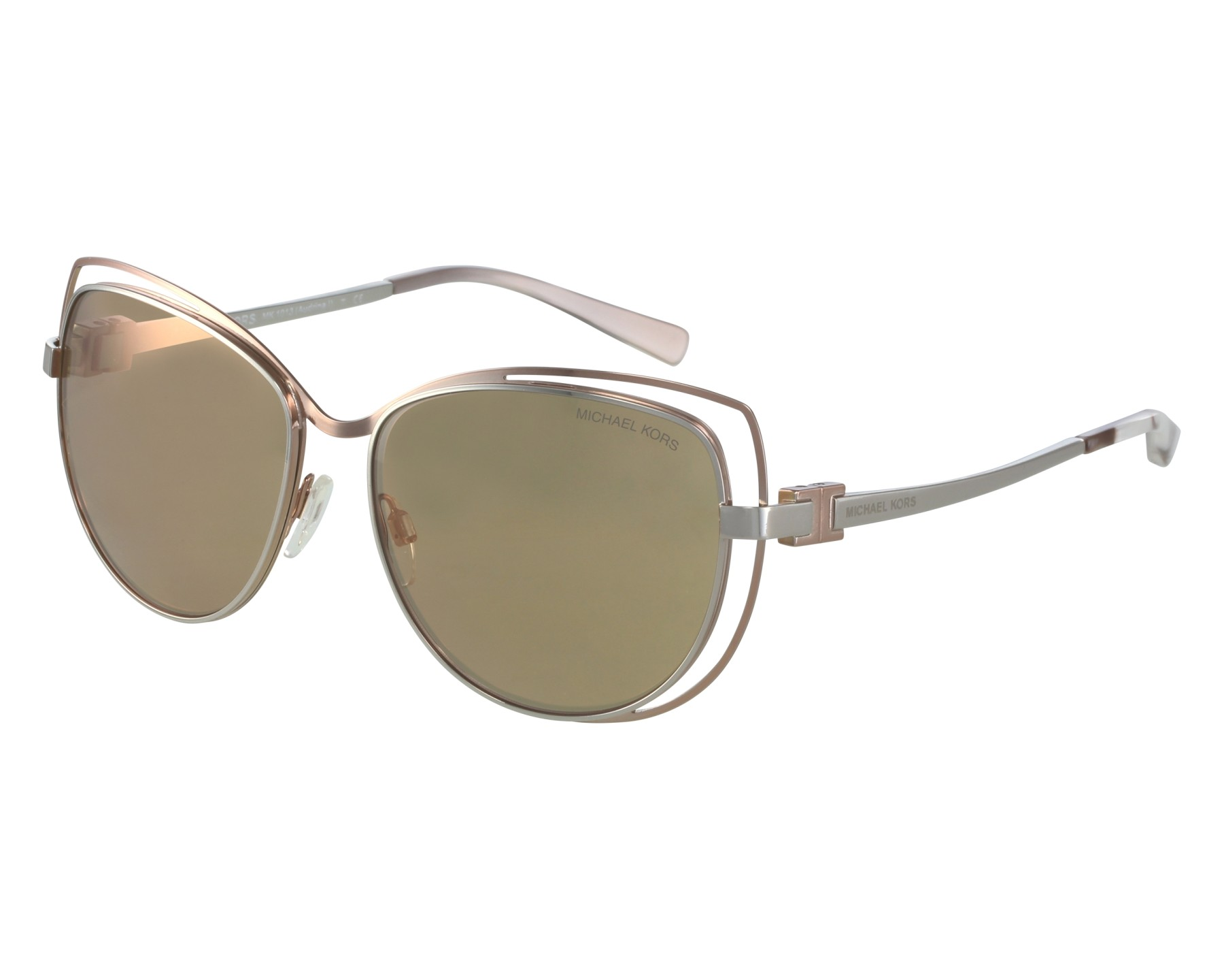 2a4832263ef Sunglasses Michael Kors MK-1013 1121 R1 58-15 Silver Pink front view
