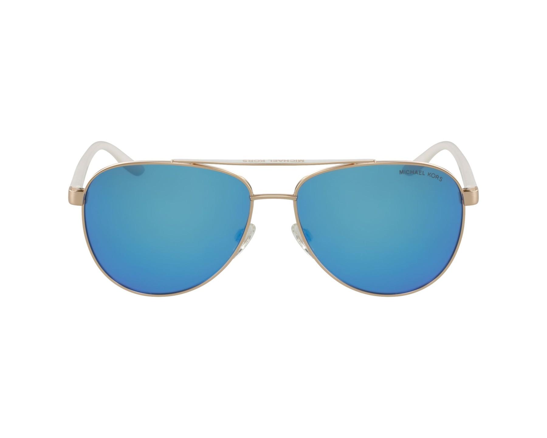 2e3bef6e7d Sunglasses Michael Kors MK-5007 104525 - Gold White profile view