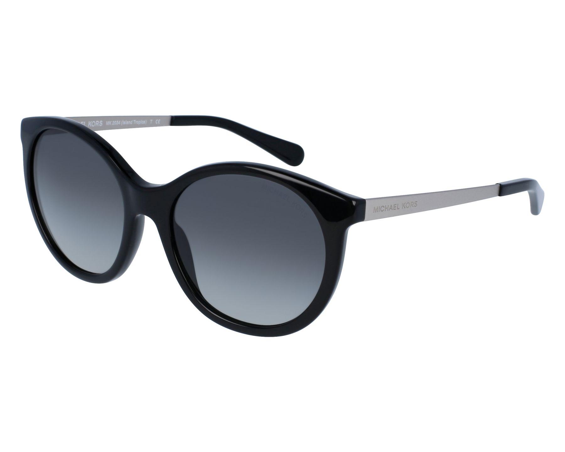 c269ab27e5 Sunglasses Michael Kors MK-2034 320411 55-18 Black Silver front view