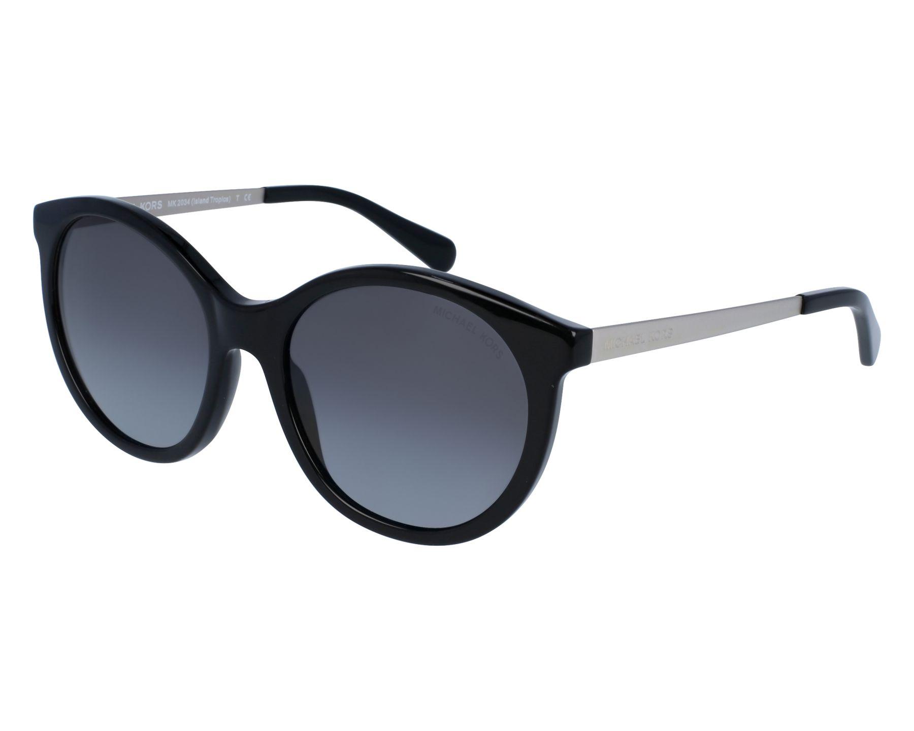471d3d1ce4b4e Sunglasses Michael Kors MK-2034 3204T3 55-18 Black Silver front view