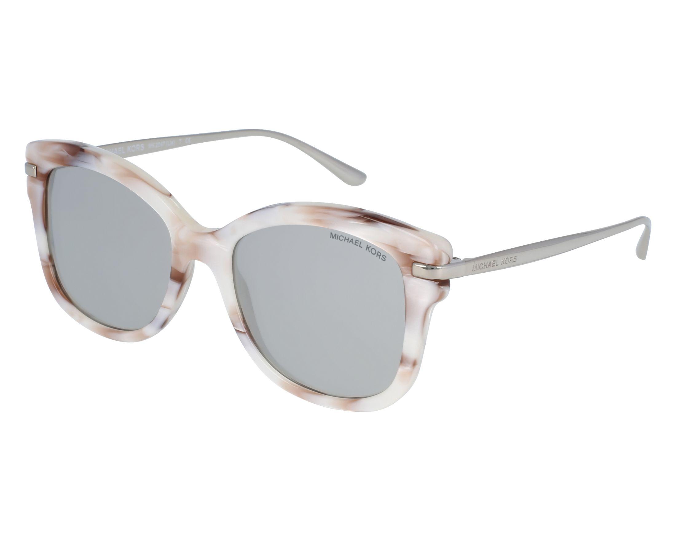 5a0716e72d Sunglasses Michael Kors MK-2047 32486G 53-18 White Brown front view