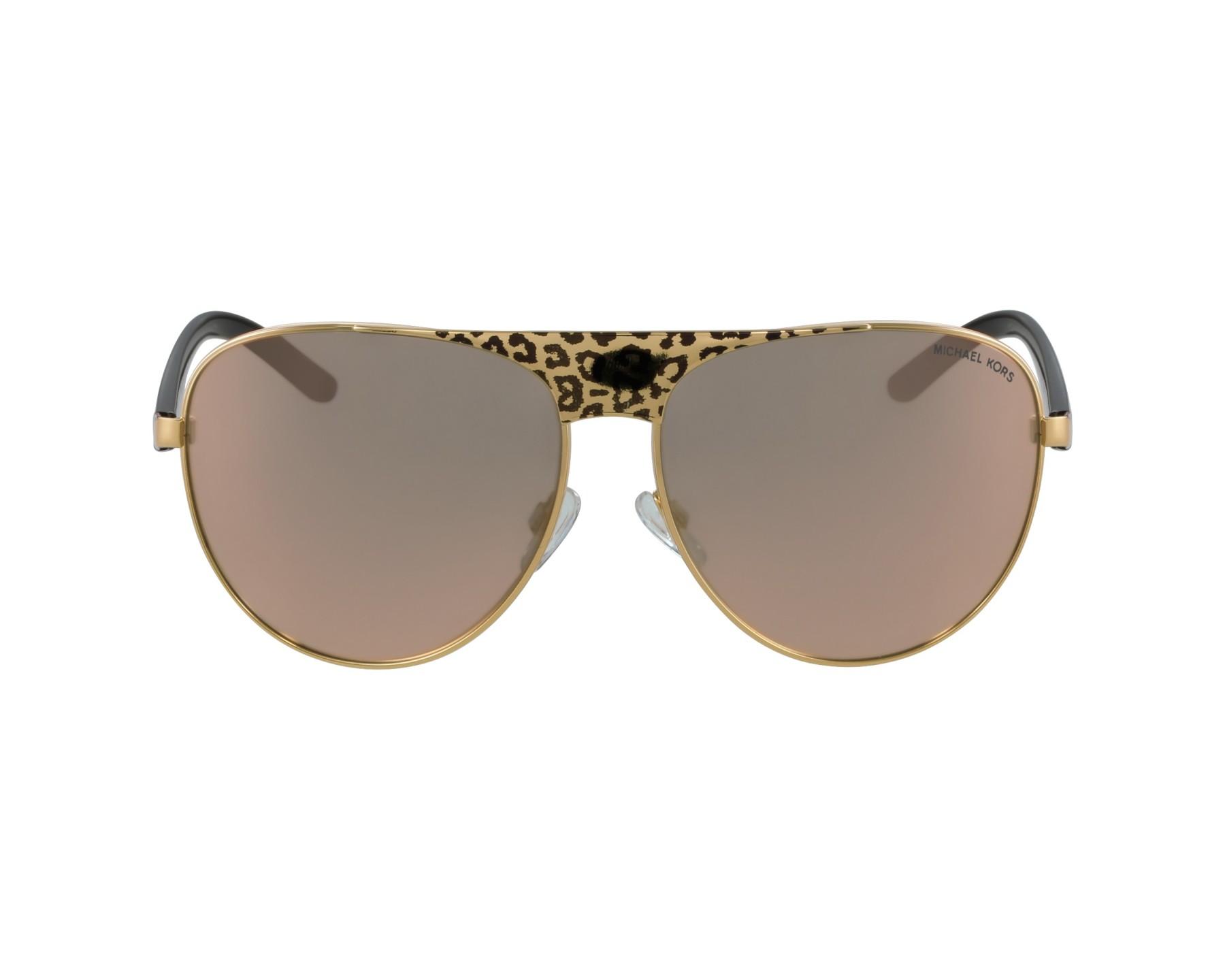 0b915456478 Sunglasses Michael Kors MK-1006 1057R5 62-14 Gold Leo profile view