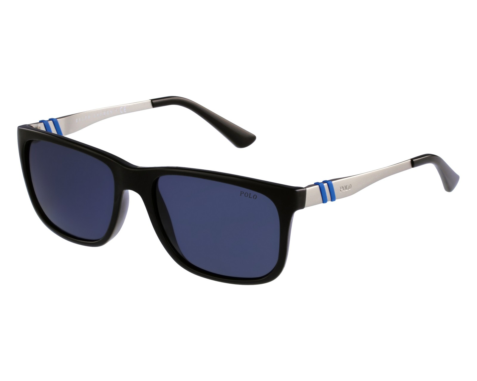 2b936ee8ba88 Sunglasses Polo Ralph Lauren PH-4088 5001/87 55-17 Black Silver front