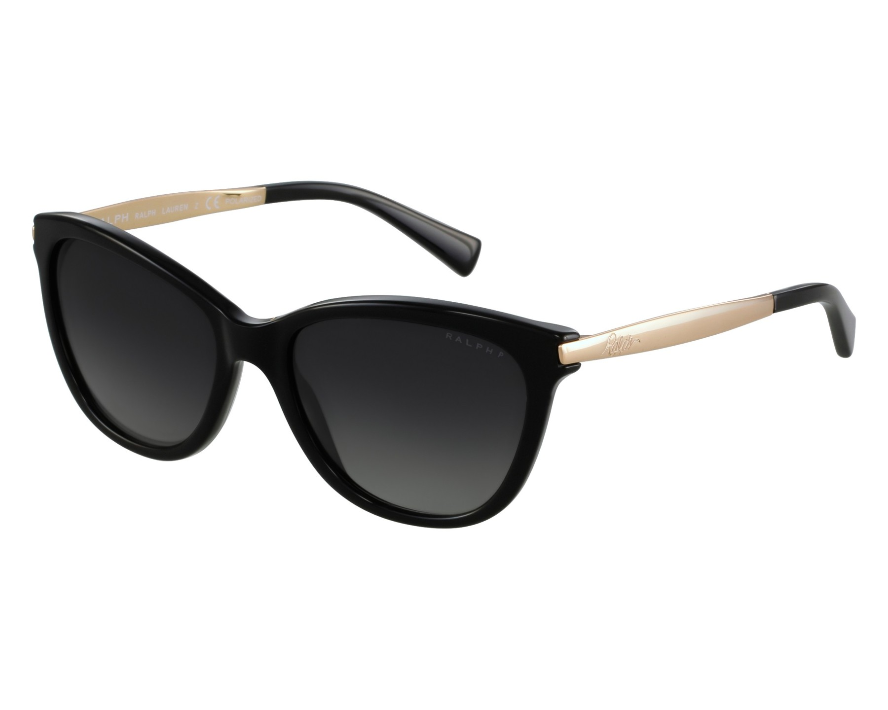 1f81532c13 Sunglasses Ralph Lauren RA-5201 1265 T3 54-17 Black Gold front view