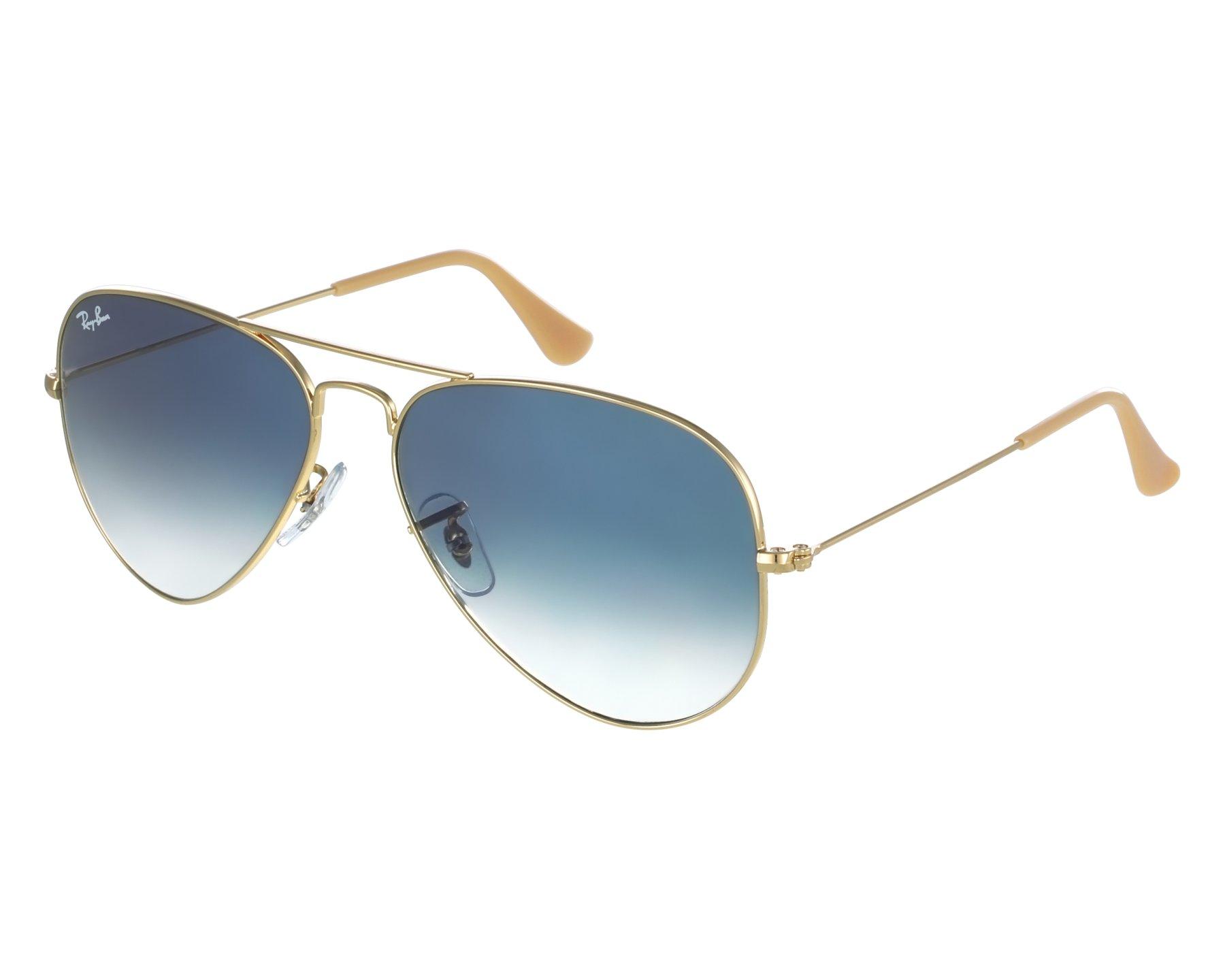 2061a1197e8e Sunglasses Ray-Ban RB-3025 001/3F 55-14 Gold front view