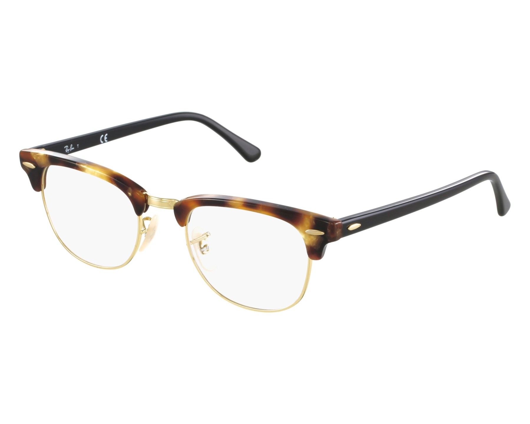 26990164295 eyeglasses Ray-Ban RX-5154 5494 49-21 Havana Gold front view
