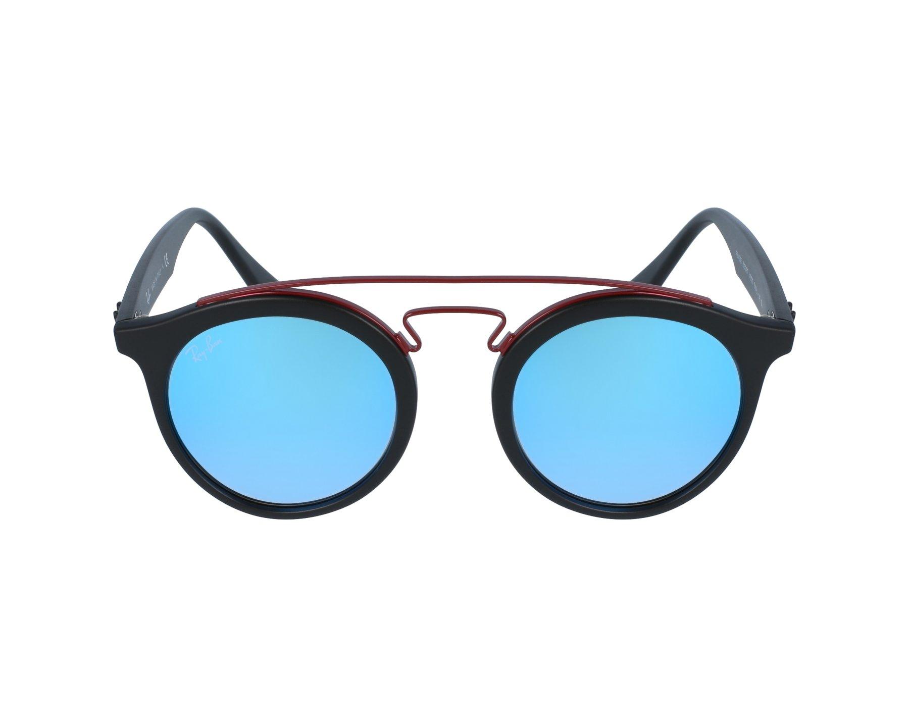 thumbnail Sunglasses Ray-Ban RB-4256 6252 B7 - Black Bordeaux profile view 81240a34aa94
