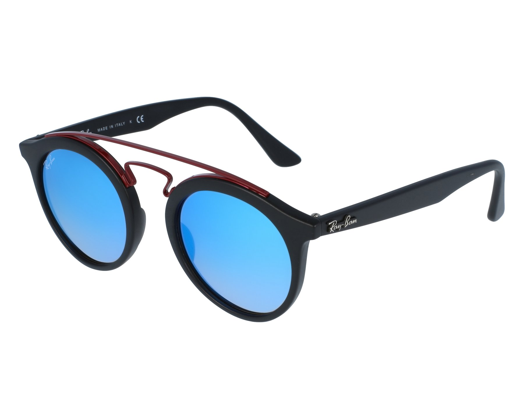 5ab23a383ac thumbnail Sunglasses Ray-Ban RB-4256 6252 B7 - Black Bordeaux front view