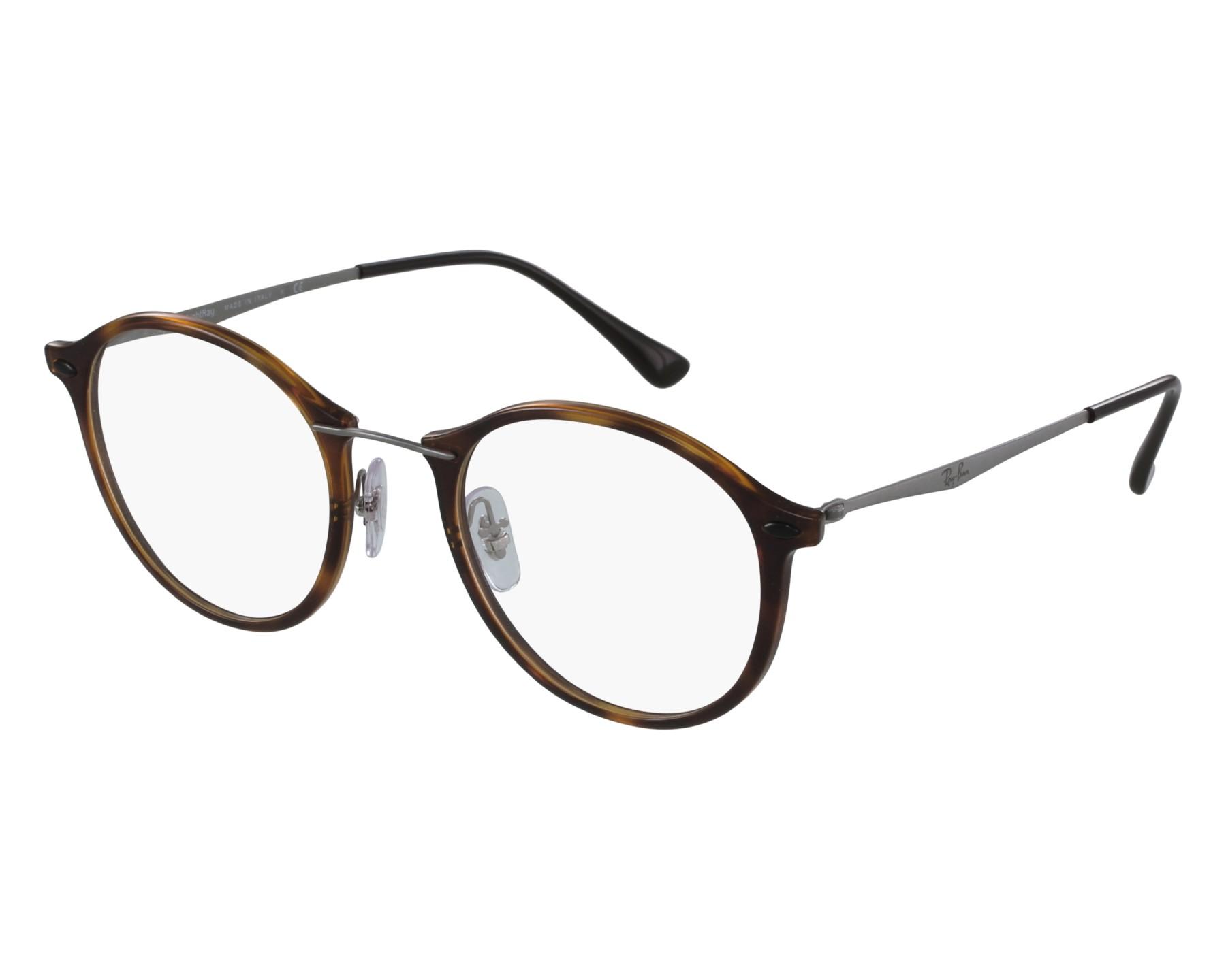 a5504a21f8 eyeglasses Ray-Ban RX-7073 5588 47-21 Havana Grey front view