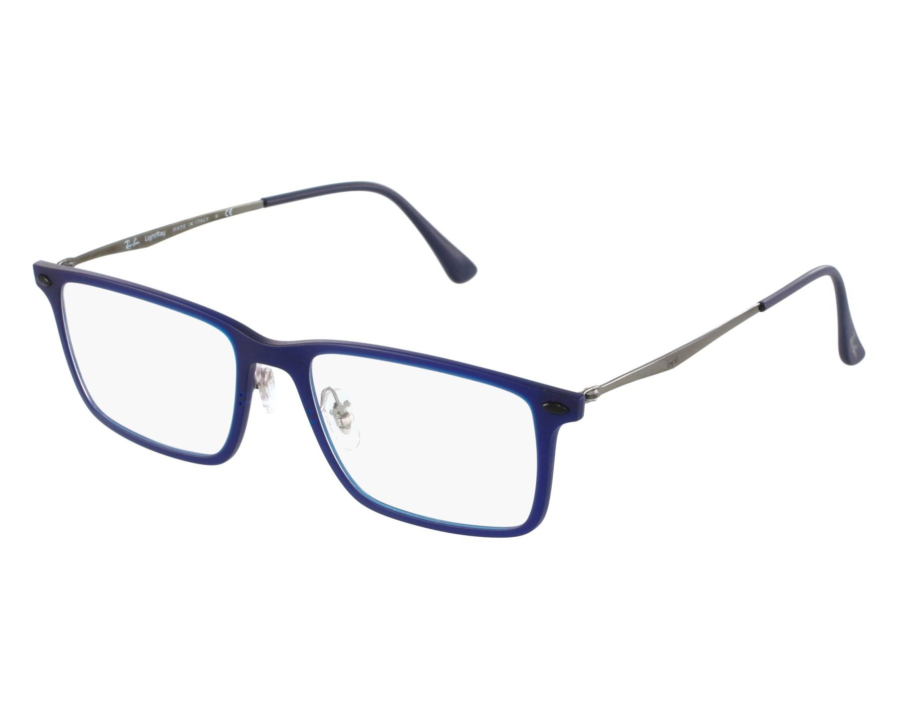 0cc1bb001d ... new style eyeglasses ray ban rx 7050 5451 54 18 blue gun front view  97eb0 f9aff
