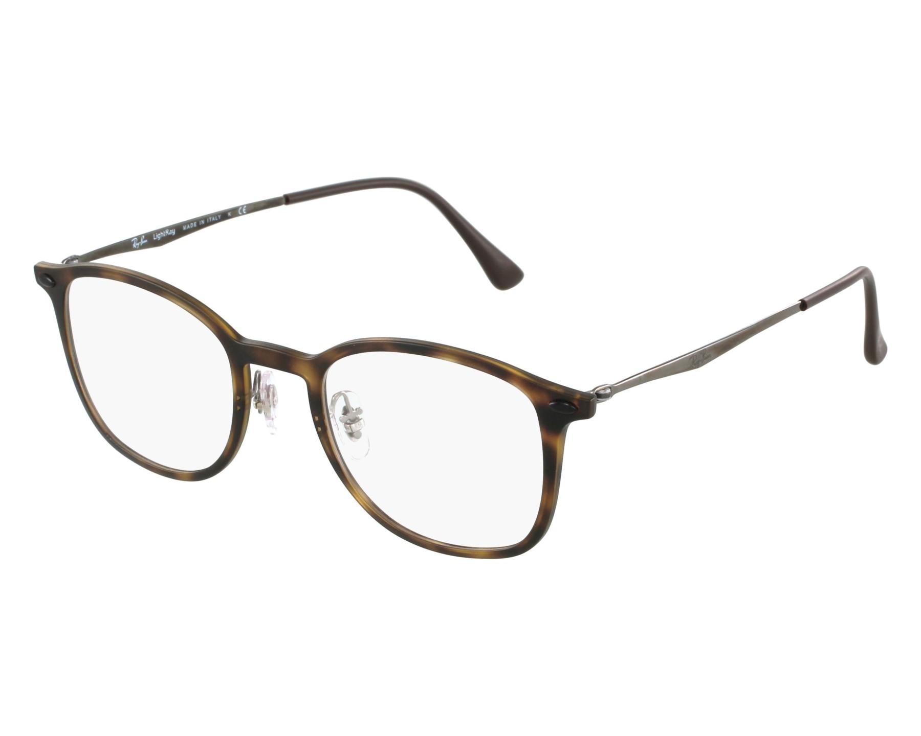 3267d179f6ae2 eyeglasses Ray-Ban RX-7051 5200 47-20 Havana Gun front view