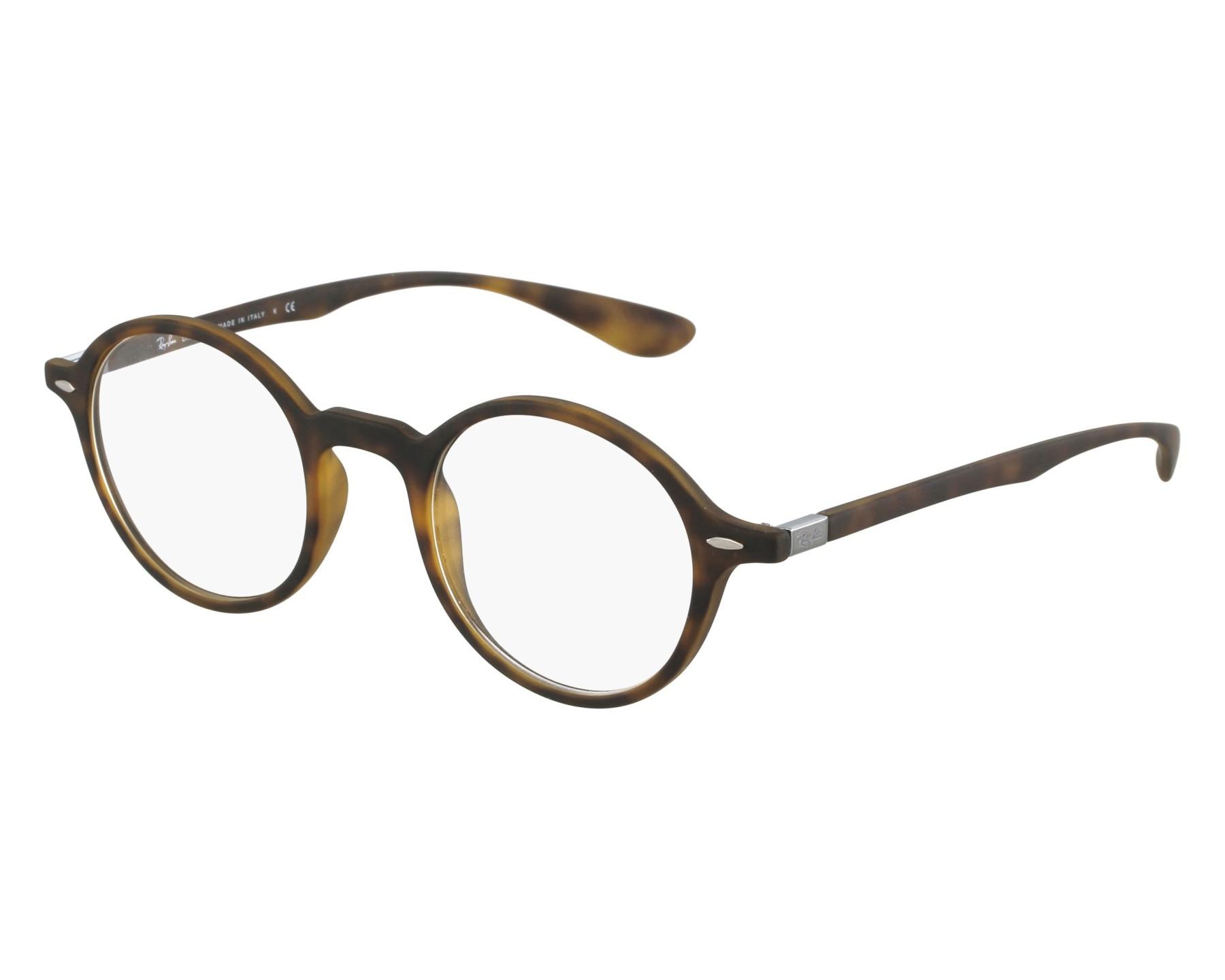 c8d39cfb8e448 eyeglasses Ray-Ban RX-7069 5200 43-22 Brown Gun front view