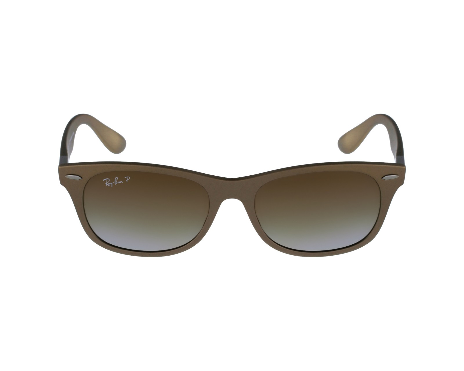df47239439 thumbnail Sunglasses Ray-Ban RB-4207 6033 T5 - Brown profile view