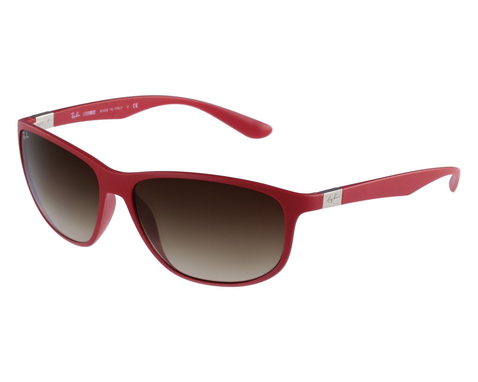 e33cf93096 thumbnail Sunglasses Ray-Ban RB-4213 6123 13 - Red Silver front view