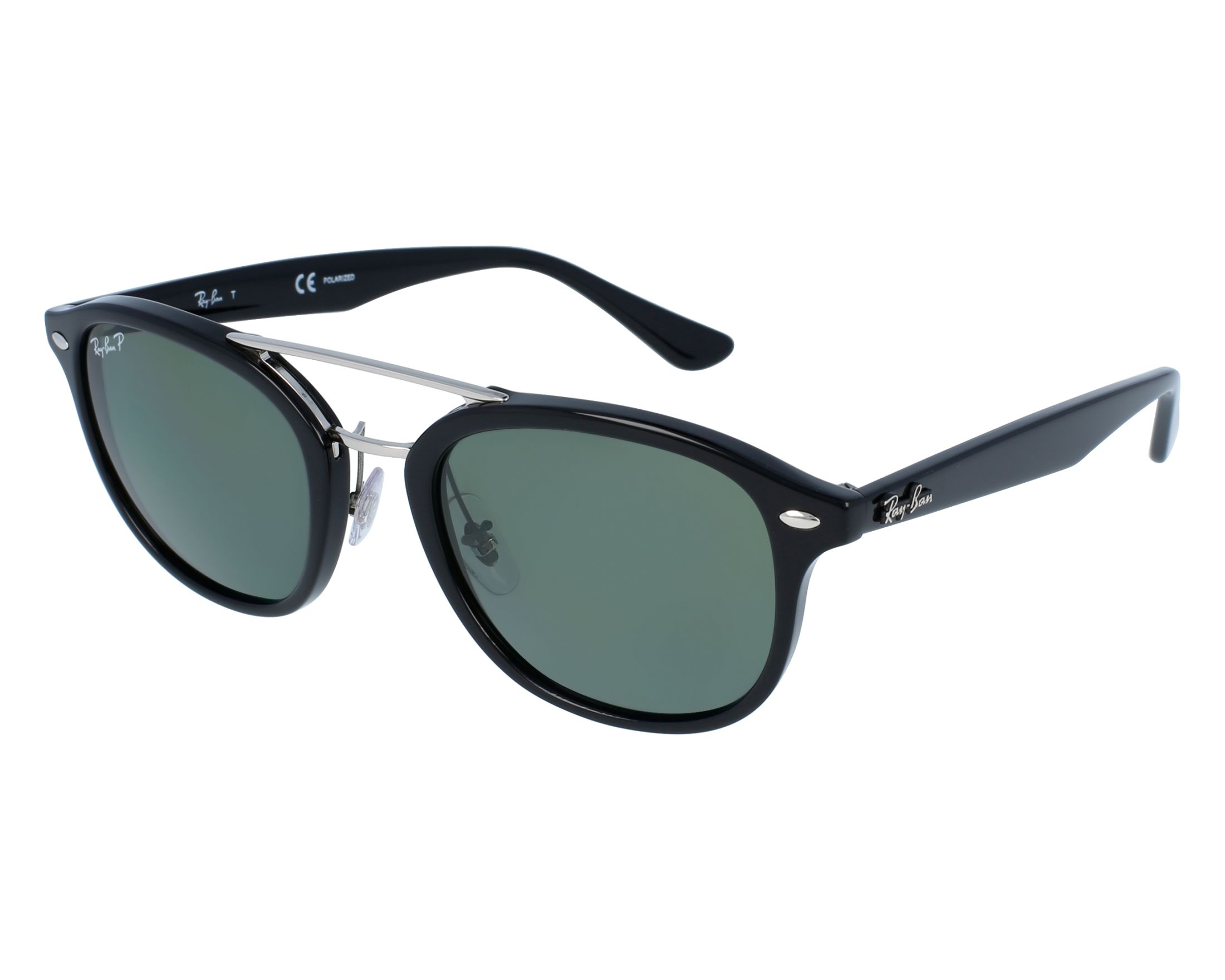b68b60c358 Sunglasses Ray-Ban RB-2183 901 9A 53-21 Black Silver front