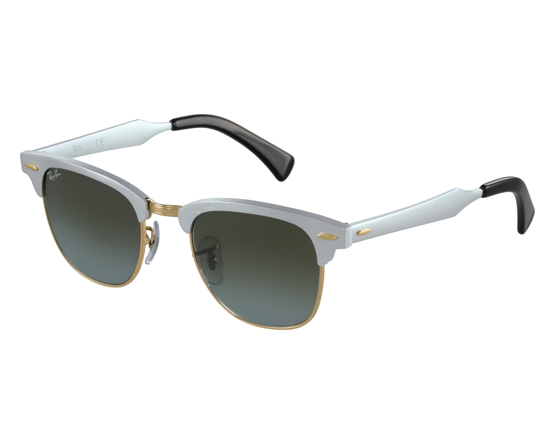 d7c8af35f9d ... authentic sunglasses ray ban rb 3507 137 9j 49 21 silver gold front  6b4e5 82cd6