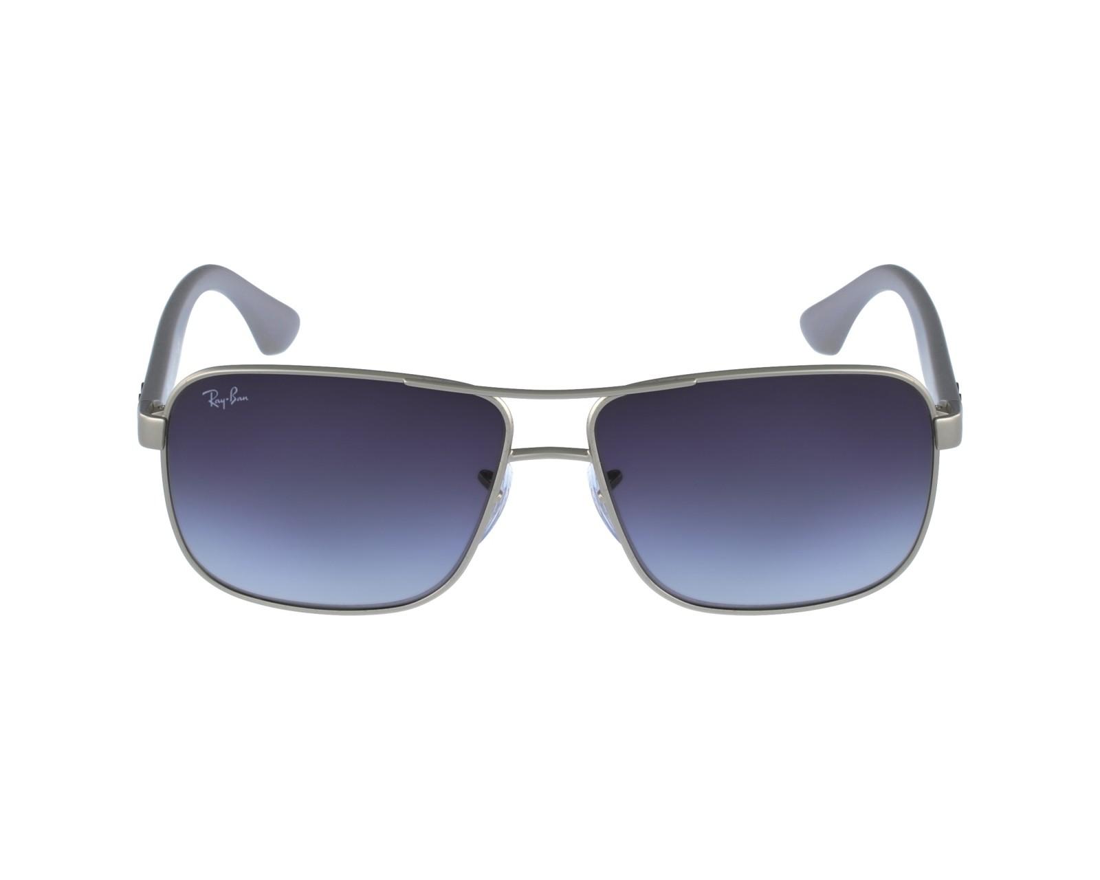 3746cbd3b1e thumbnail Sunglasses Ray-Ban RB-3516 019 8G - Silver Grey profile view