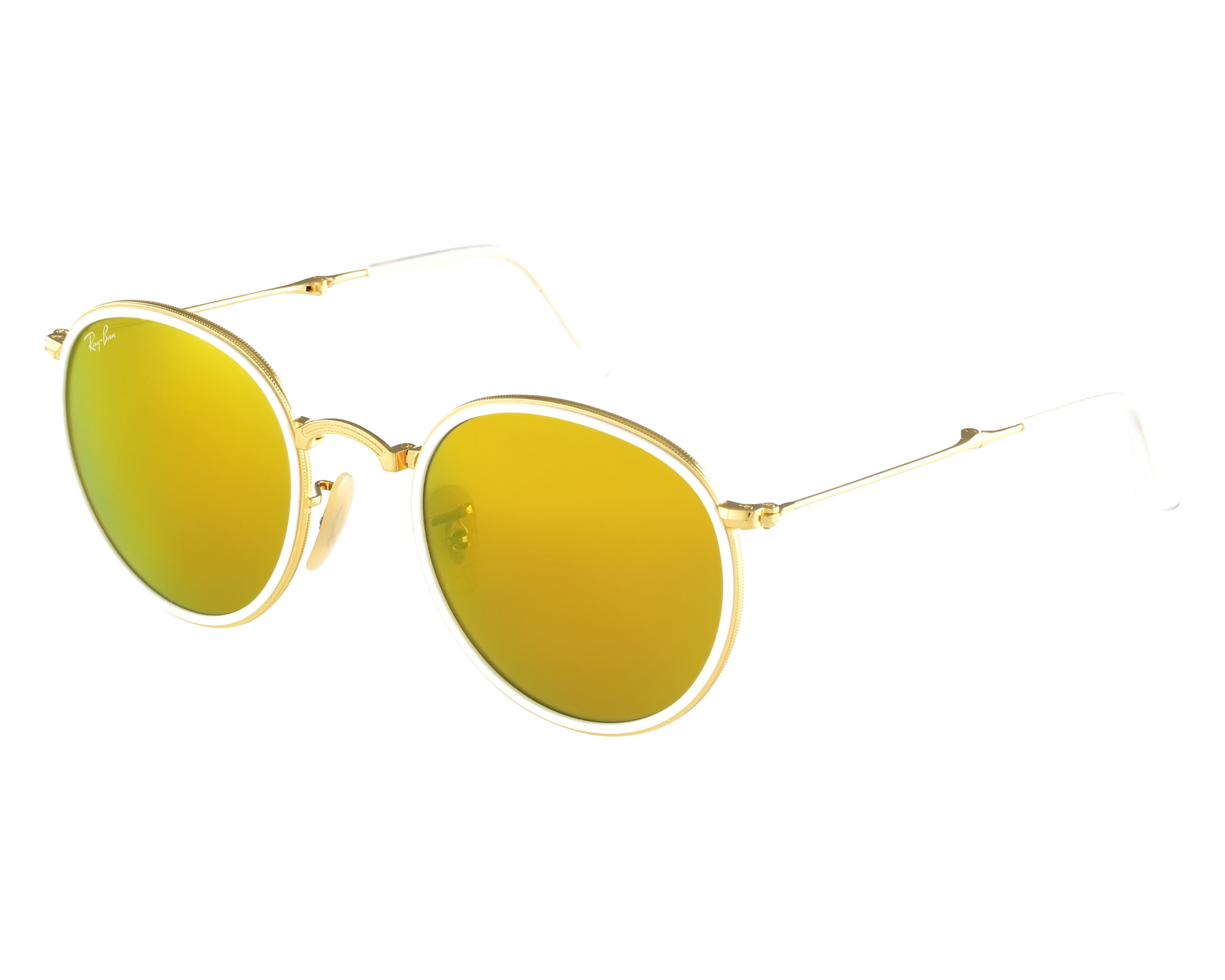 5ec711eec4 thumbnail Sunglasses Ray-Ban RB-3517 001 93 - Gold White front view