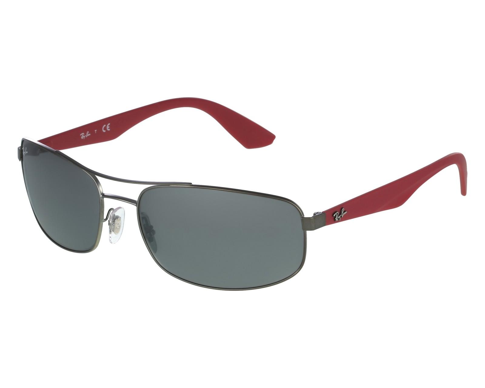 bffb49163ba thumbnail Sunglasses Ray-Ban RB-3527 029 6G - Gun Red front view