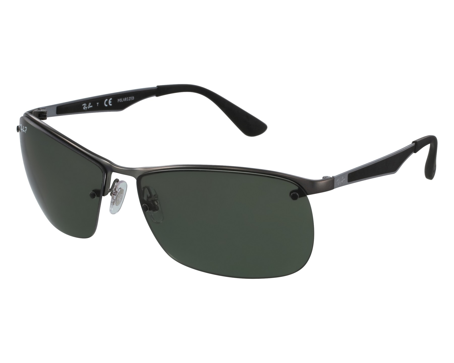 1bd8aafce5e thumbnail Sunglasses Ray-Ban RB-3550 029 9A - Grey Black front view
