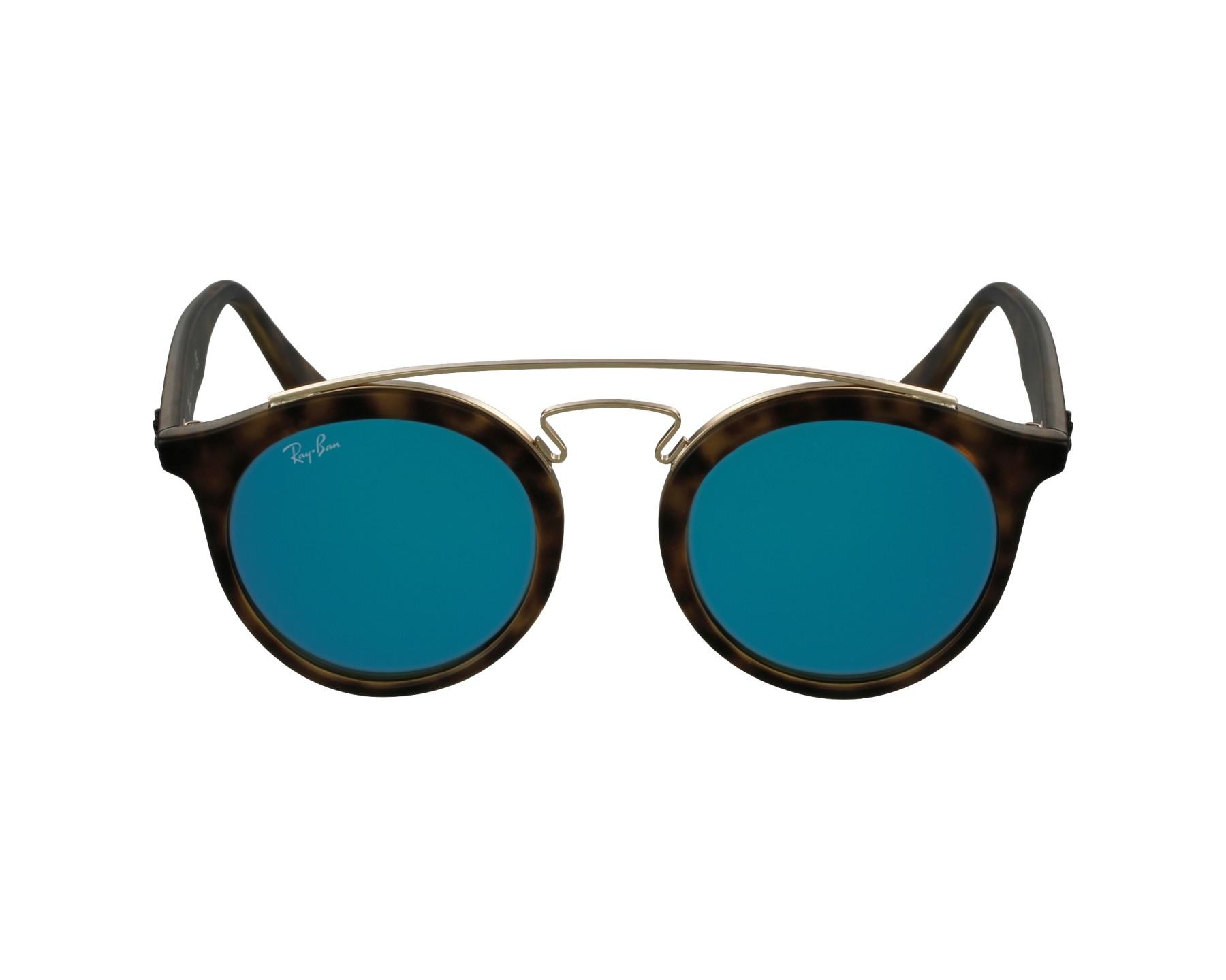 92596311fd thumbnail Sunglasses Ray-Ban RB-4256 6092 55 - Havana Gold profile view