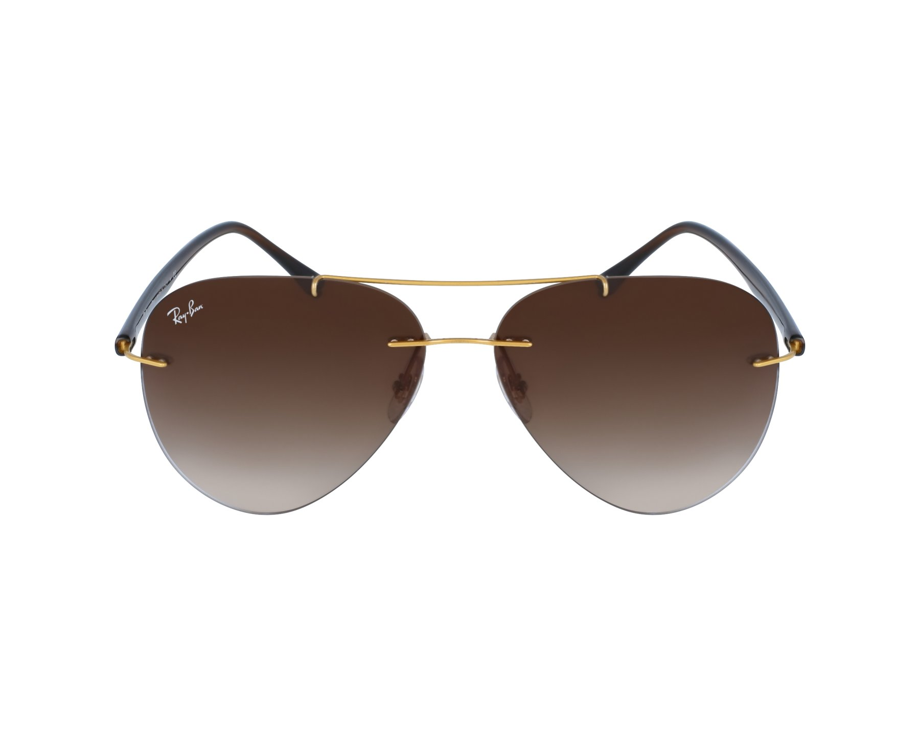 954ad0b62d Sunglasses Ray-Ban RB-8058 157 13 59-13 Gold Brown profile