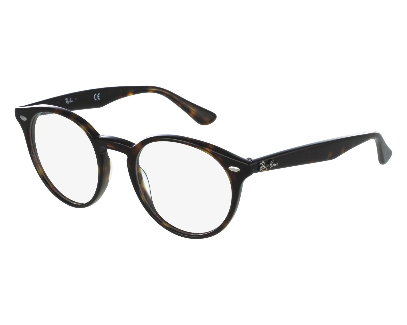 6ba559d128 eyeglasses Ray-Ban RX-2180-V 2012 47-21 Havana front view
