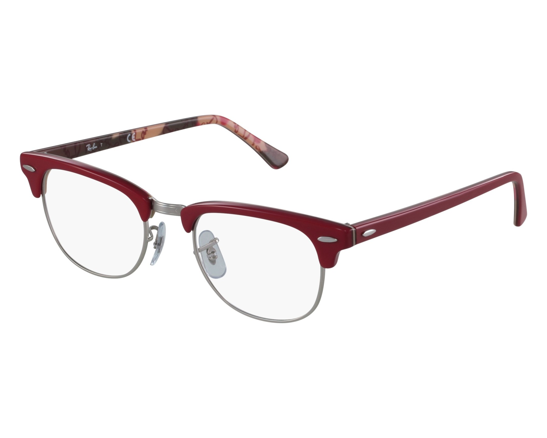 e5342a60679 eyeglasses Ray-Ban RX-5154 5651 49-21 Red front view